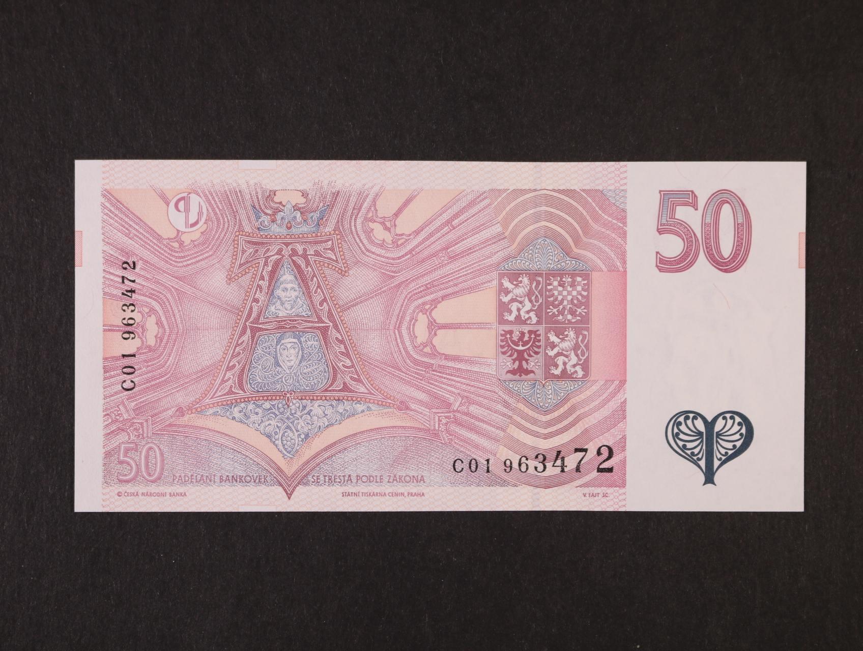 50 Kč 1997 série C 01, Ba. CZ 17, Pi. 17a