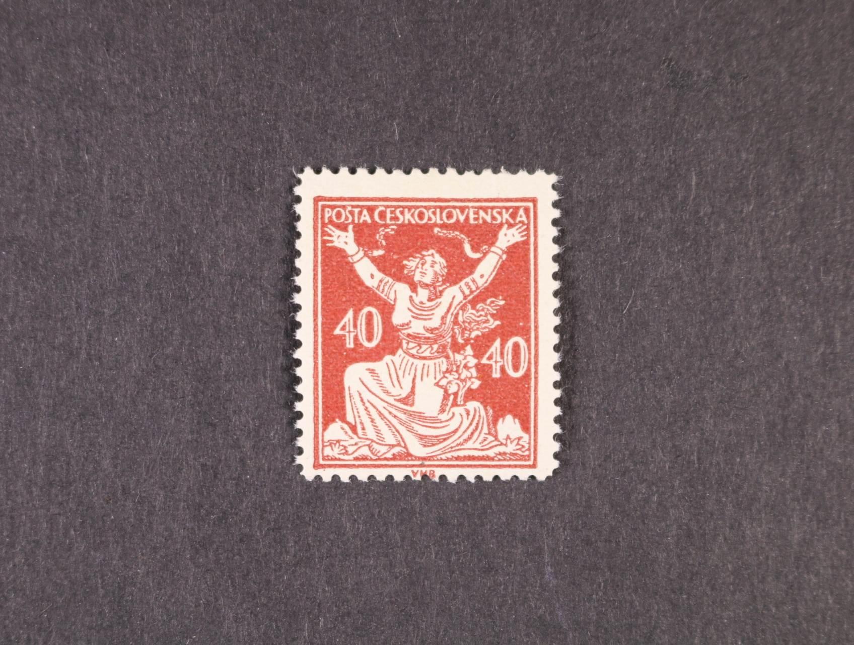 zn. č. 154 B, typ I, zk. Gilbert, kat. cena 4500 Kč