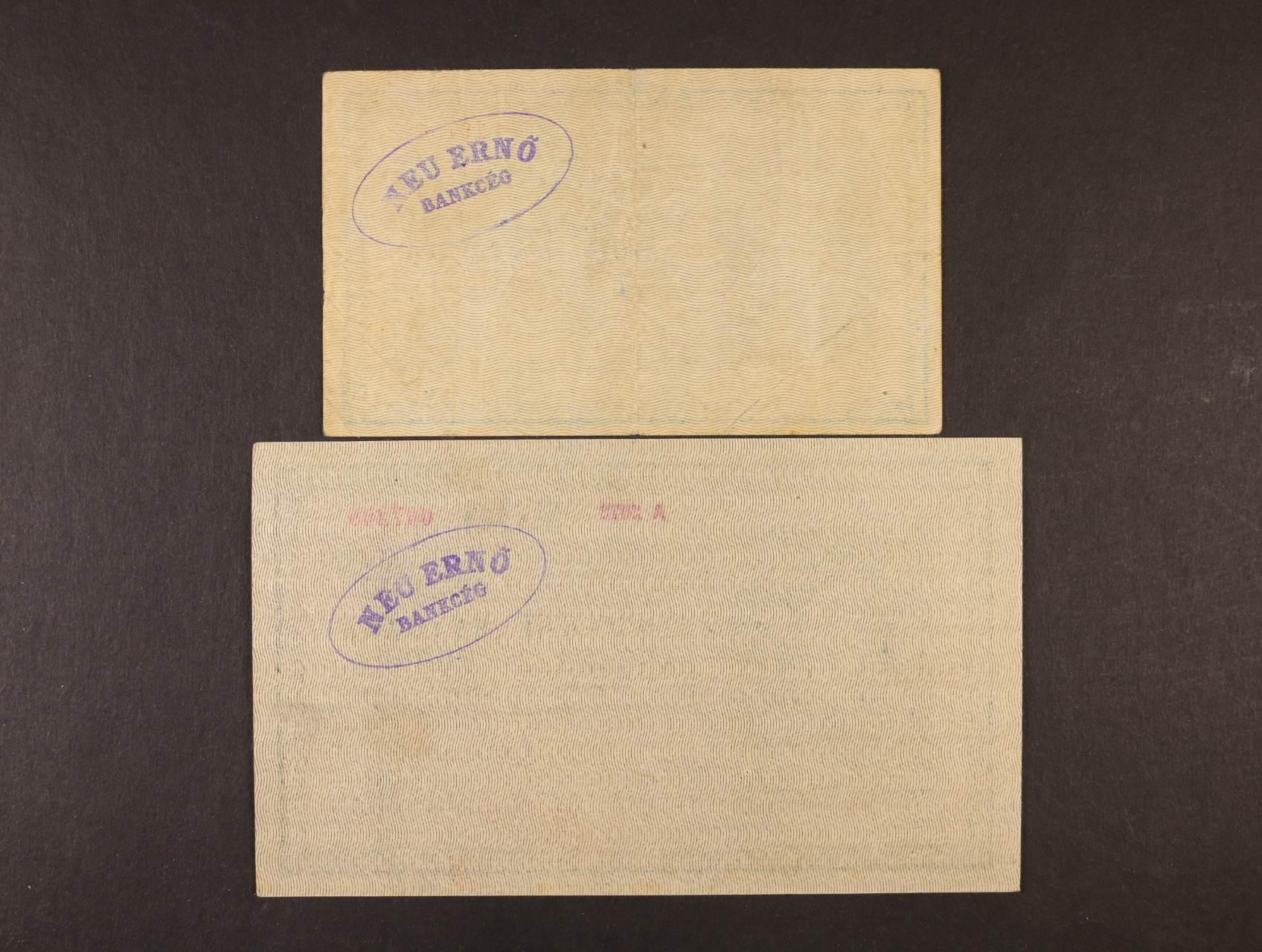 25 K a 200 K 1918 série 3005 a A 2072 s podtiskem na R, s oválným raz. na R z francouzské okupace maďarského území - Szeged