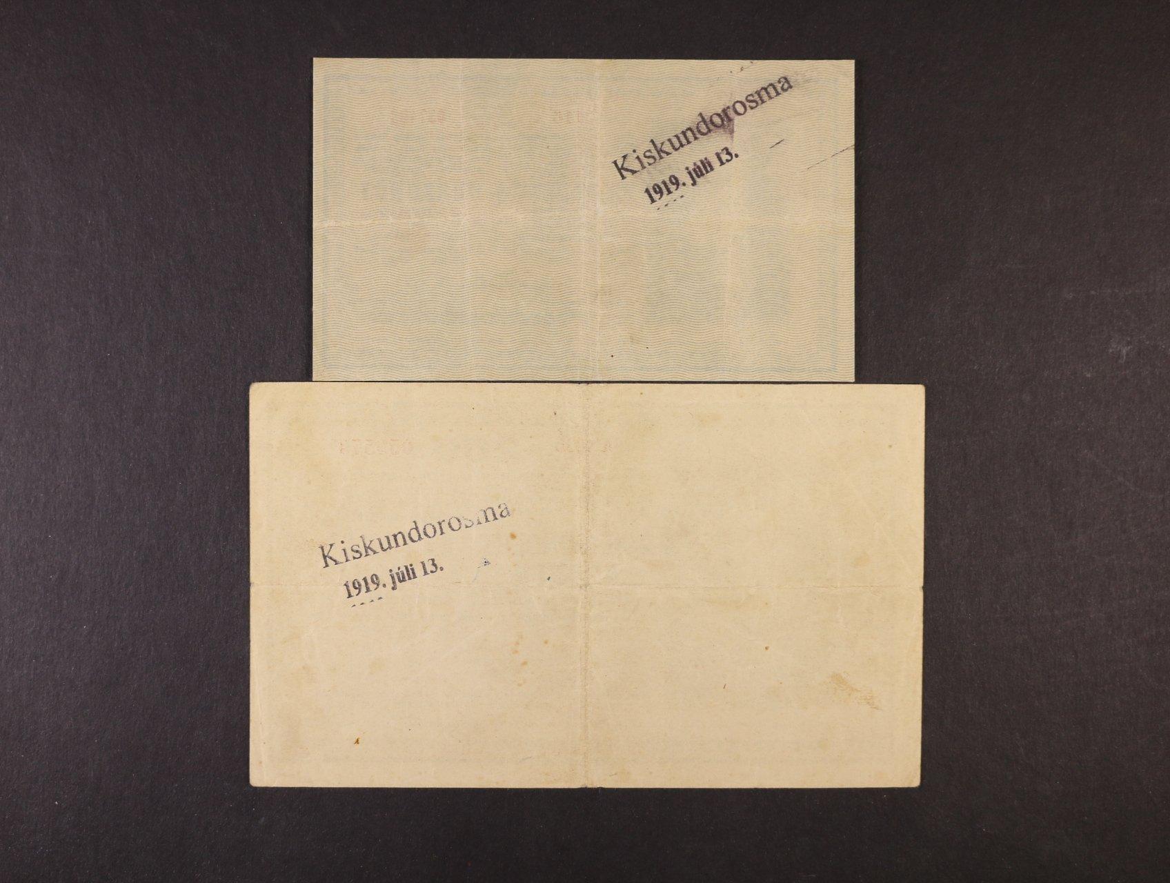 25 K a 200 K 1918 série 3116 a A 1036 bez podtisku na R s řádkovým raz. na R z francouzské okupace maďarského území