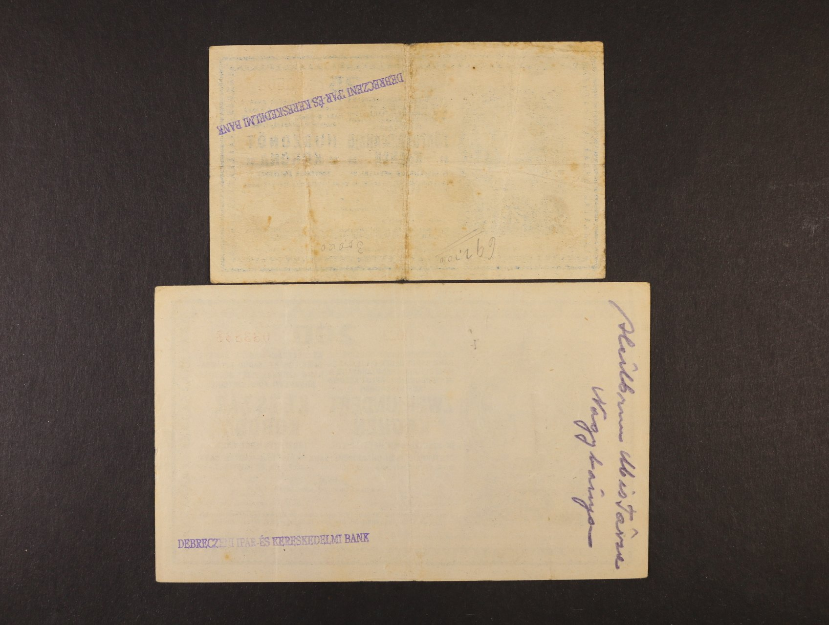 25 K a 200 K 1918 série 3026 a A 1023 bez podtisku na R s maďarským řádkovým raz. na rubové straně z okupace rumunského území