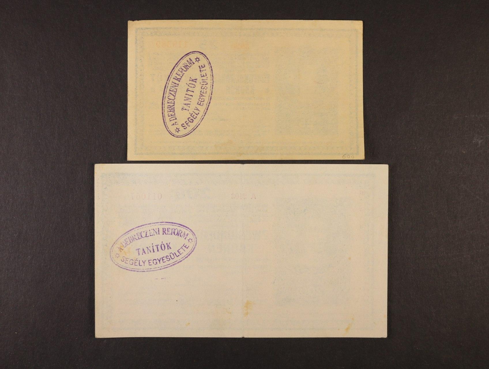 25 K a 200 K 1918 série 3020 a A 2103 bez podtisku na R s maďarským oválným raz. na rubové straně z okupace rumunského území
