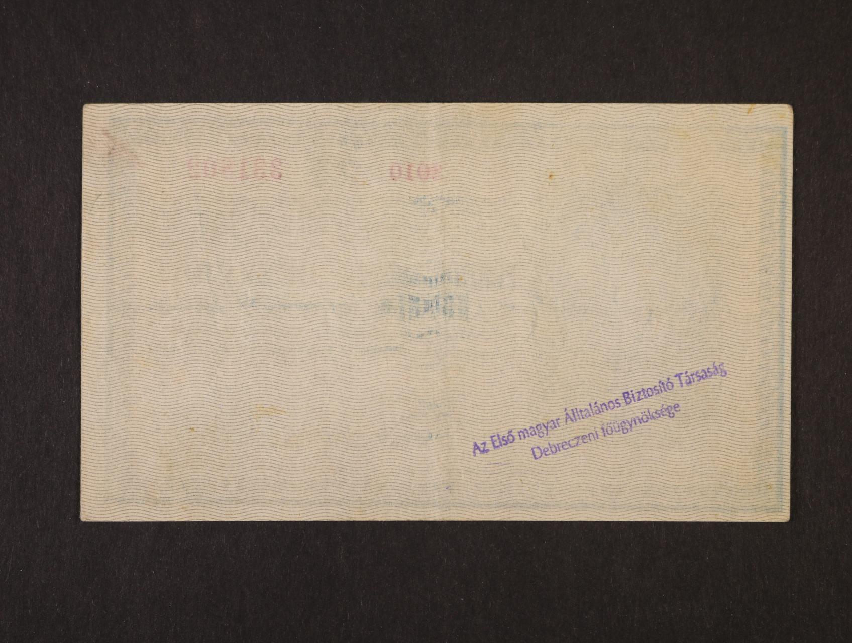 25 K 1918 série 3010 s podtiskem na R s maďarským řádkovým raz. na rubové straně z okupace rumunského území