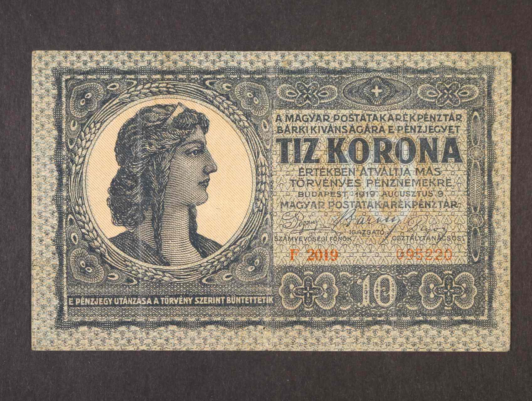 10 Korona 9.8.1919, Pi. 41