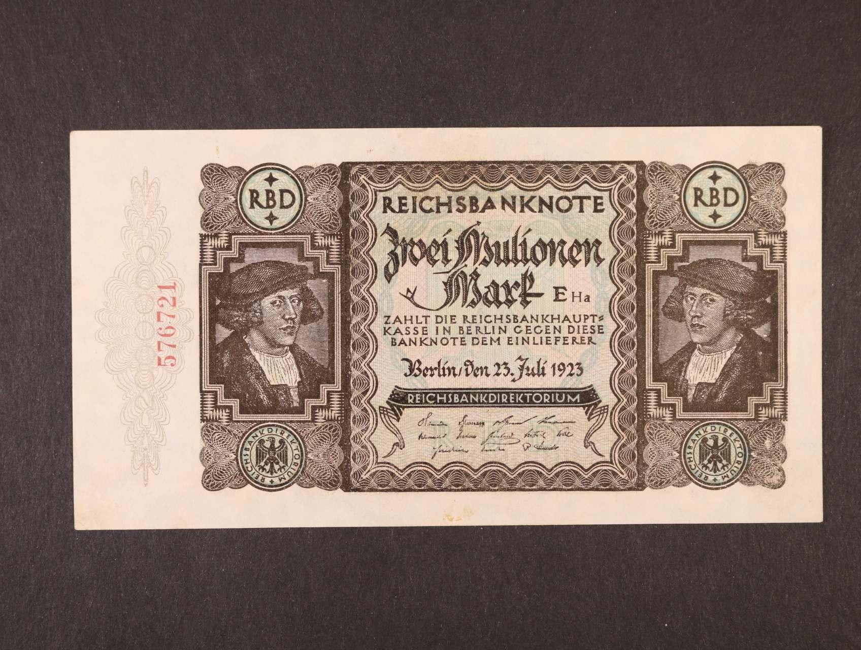 chybotisk, 2 Mio. Mark 23.7.1923 chybotisk