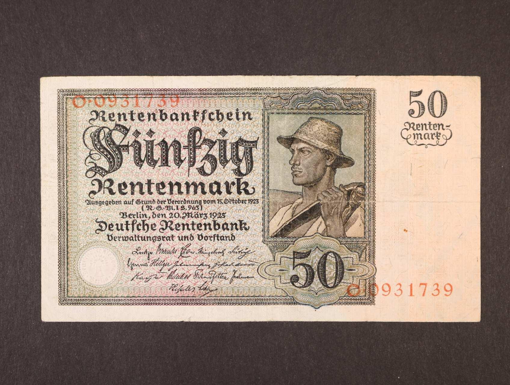 50 Rtm 20.3.1925 série O, platná na ČS území, Ro. 162, Pi. 171, Ba. D15