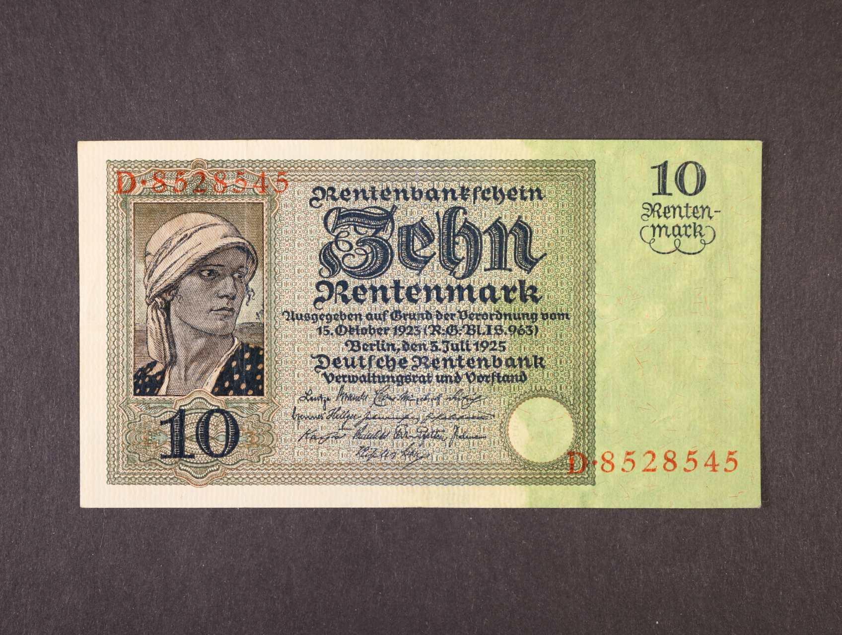 10 Rtm 3.7.1925 série D, platná na ČS území, Ro. 163, Ba. D14