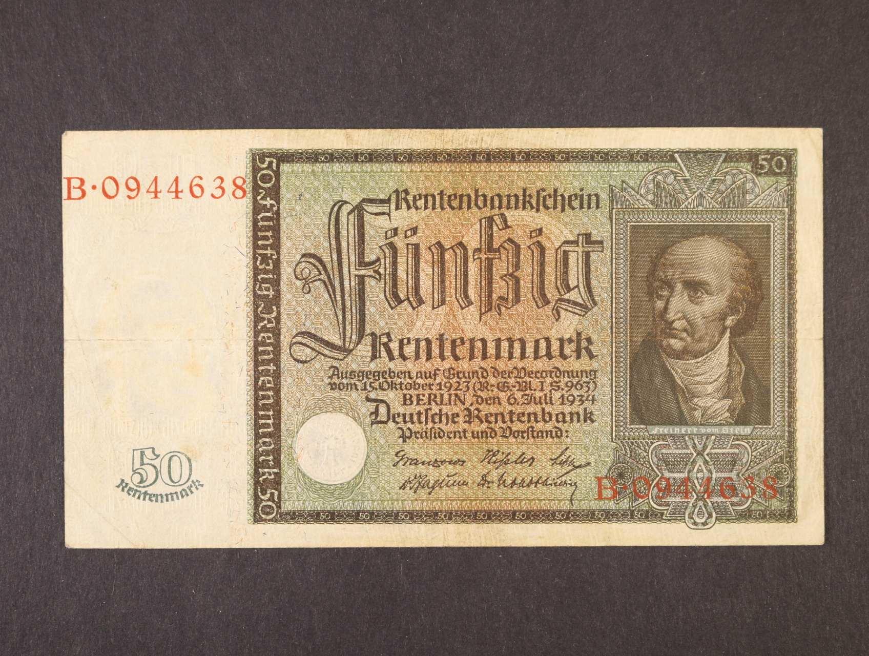 50 Rtm 26.7.1934 série B, platná na ČS území, Ro. 165, Ba, D16