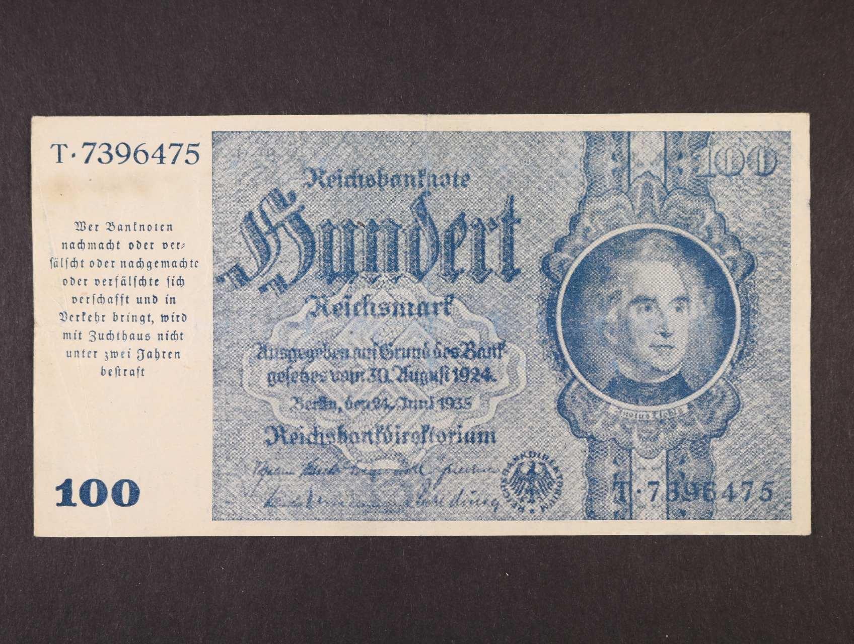 vydání pro Graz, Linz a Salzburg, 100 Rm 24.6.1935, Ro. 182