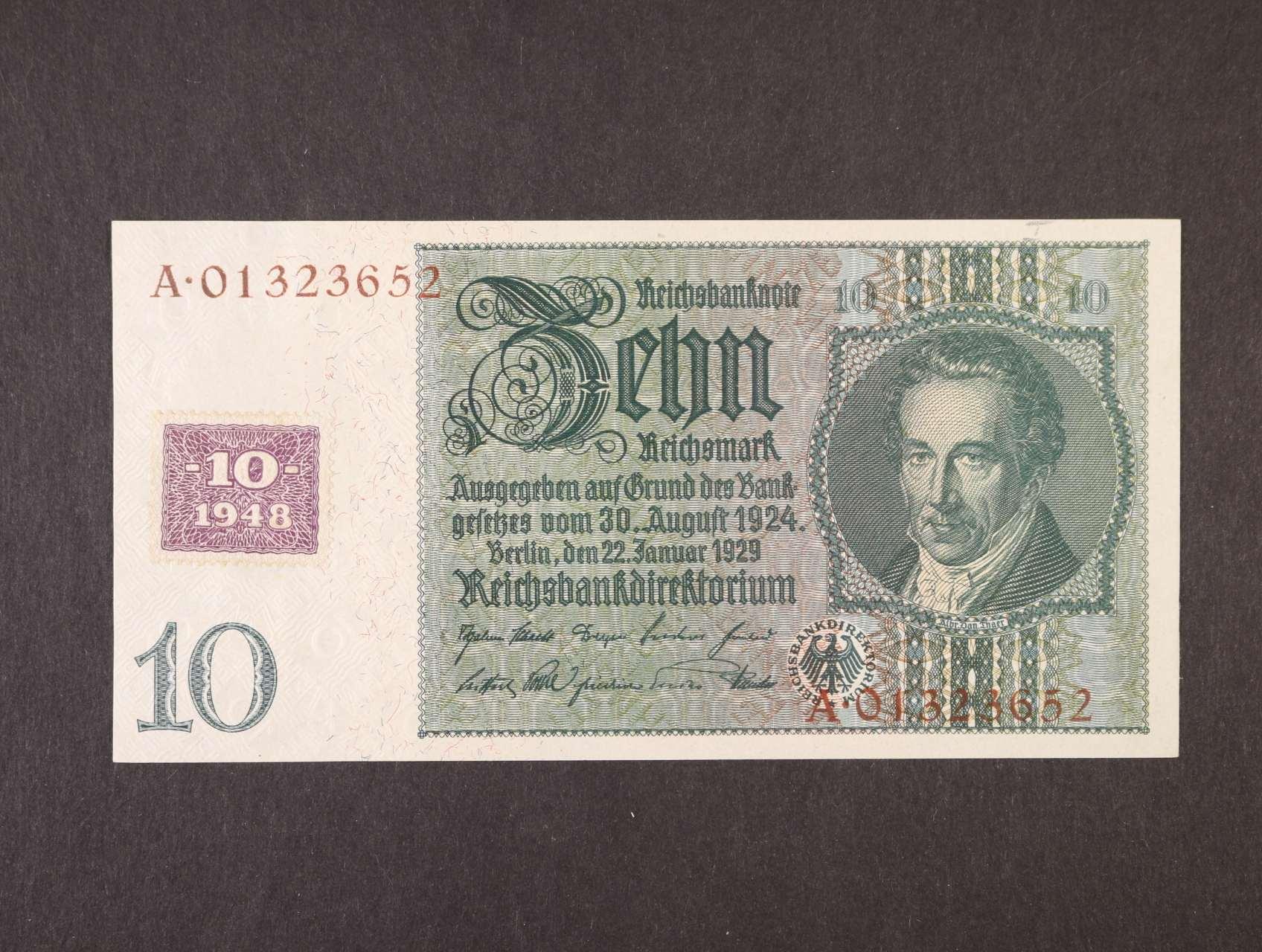 10 DM 1948 kolkovaná, Ro. 334