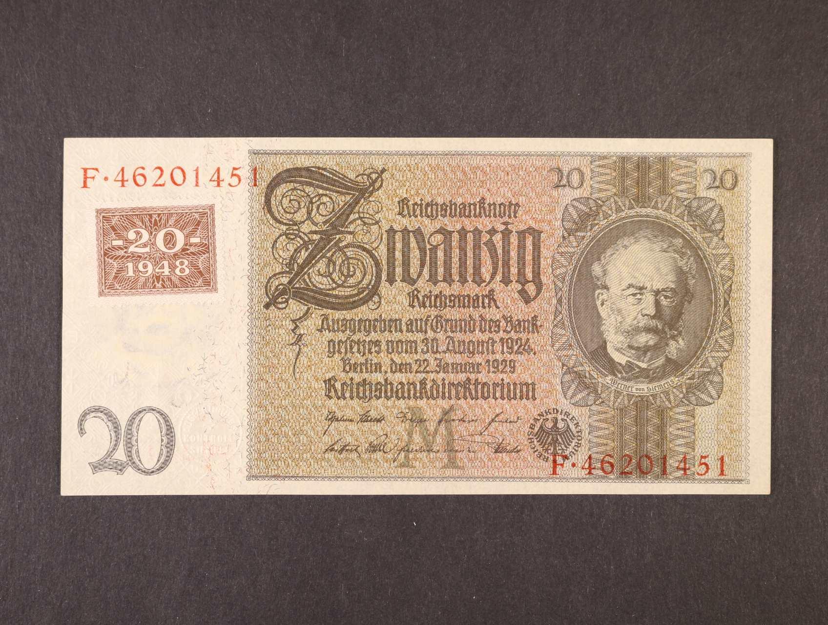 20 DM 1948 / 1929 kolkovaná, Ro. 335