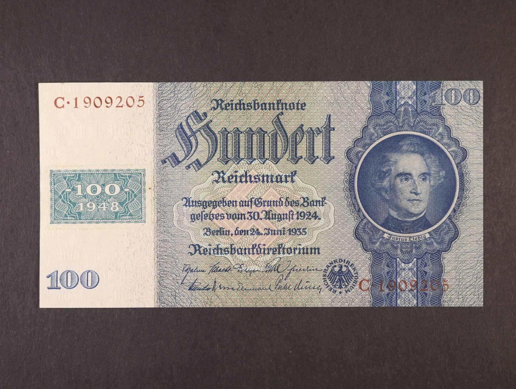 100 DM 1948 kolkovaná (válečné vydání), Ro. 338