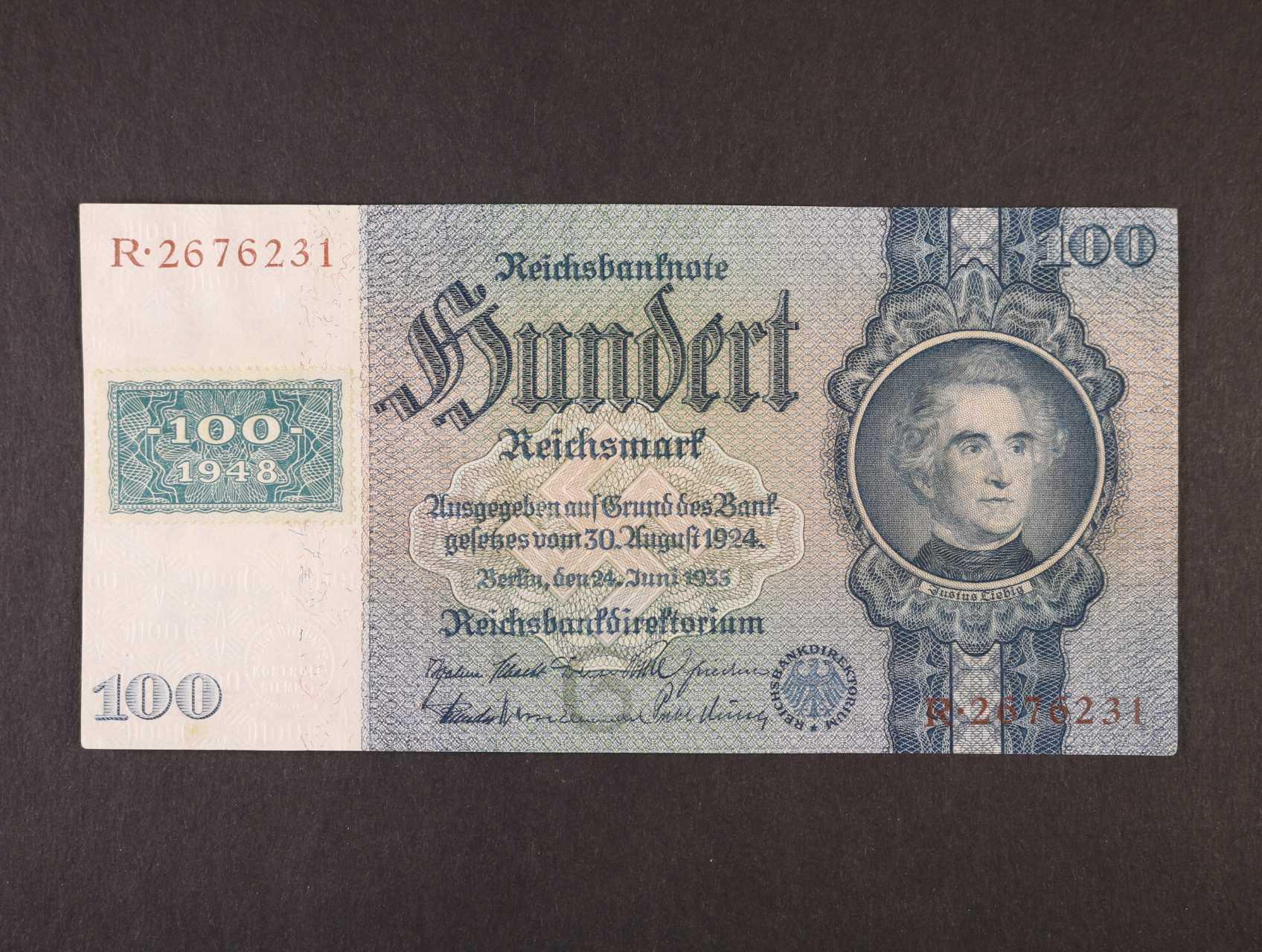 100 DM 1948 kolkovaná (mírové vydání), Ro. 338