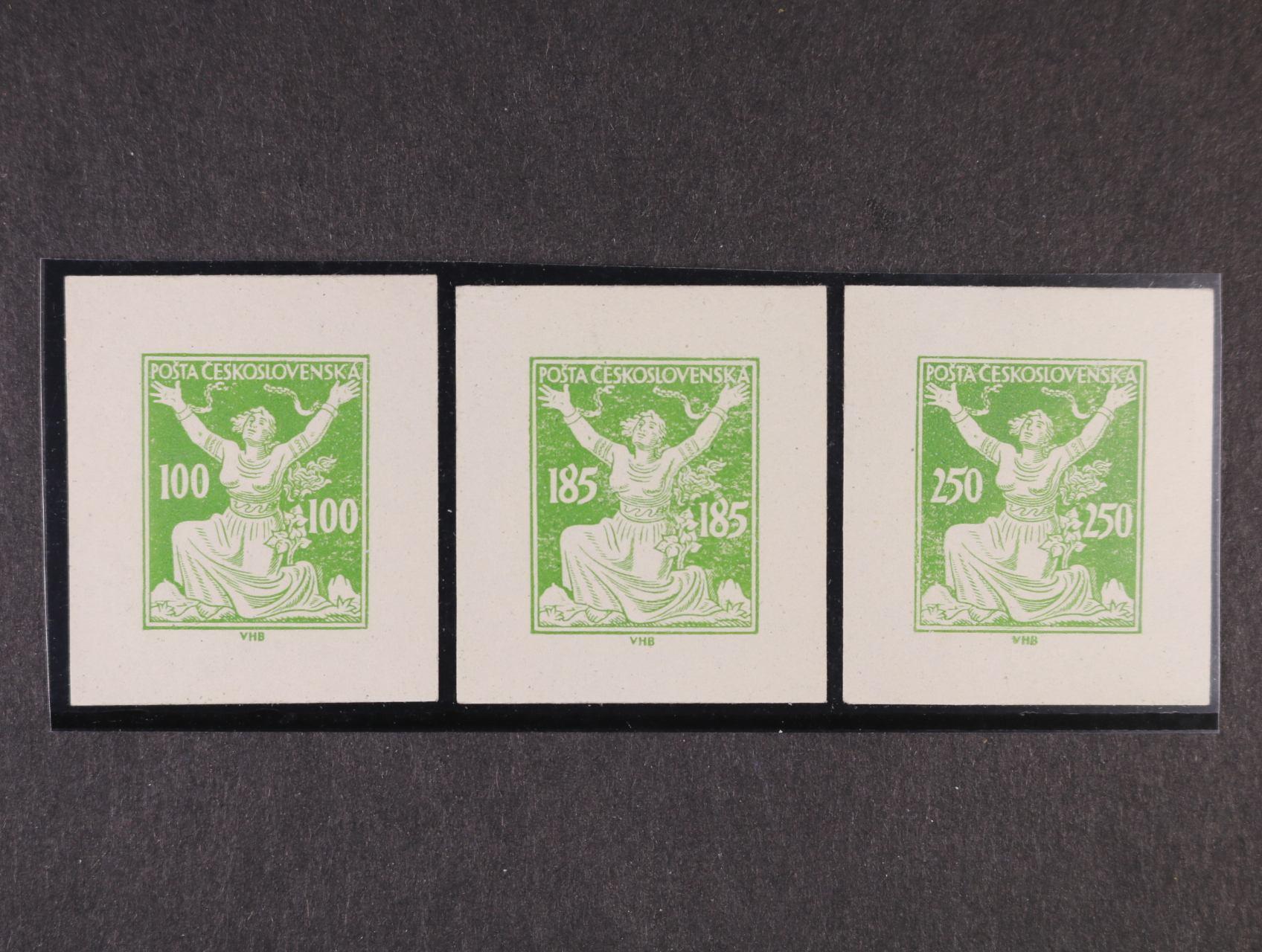 ZT 100, 185 a 250h v barvě zelené, definitivní kresba, zk. Stupka