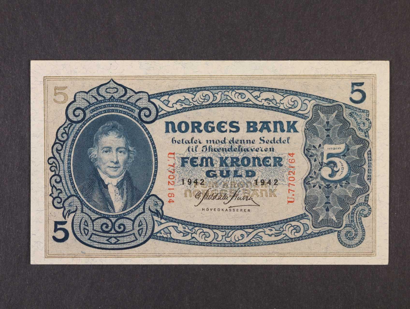 5 Kroner 1942 série U, Pi. 7c