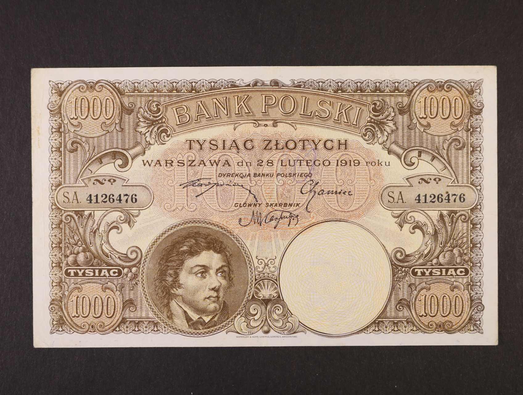 1000 Zlotych 28.2.1919 nevydaná, Pi. 59