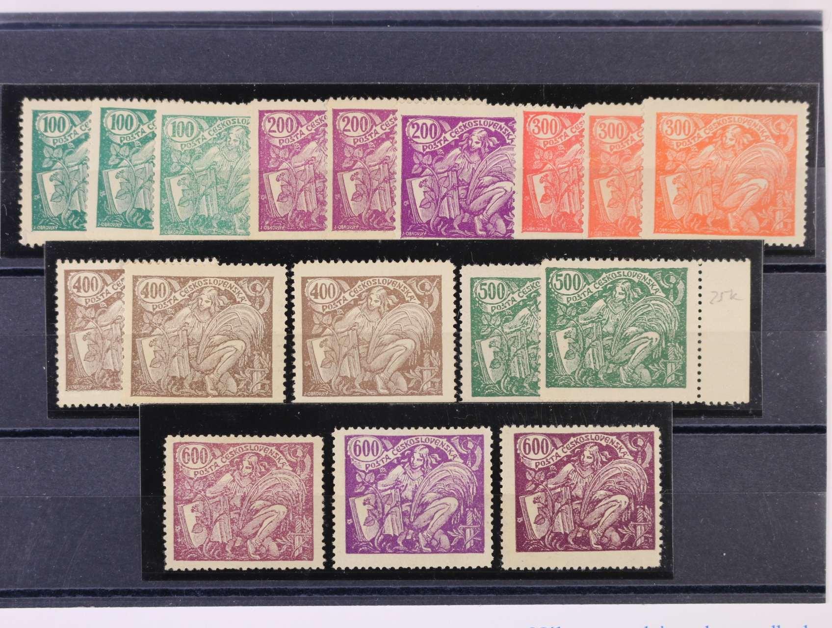 zn. č. 164 A - 169 A - sestava 17 ks, různé barvy, typy, cca 1800 Kč