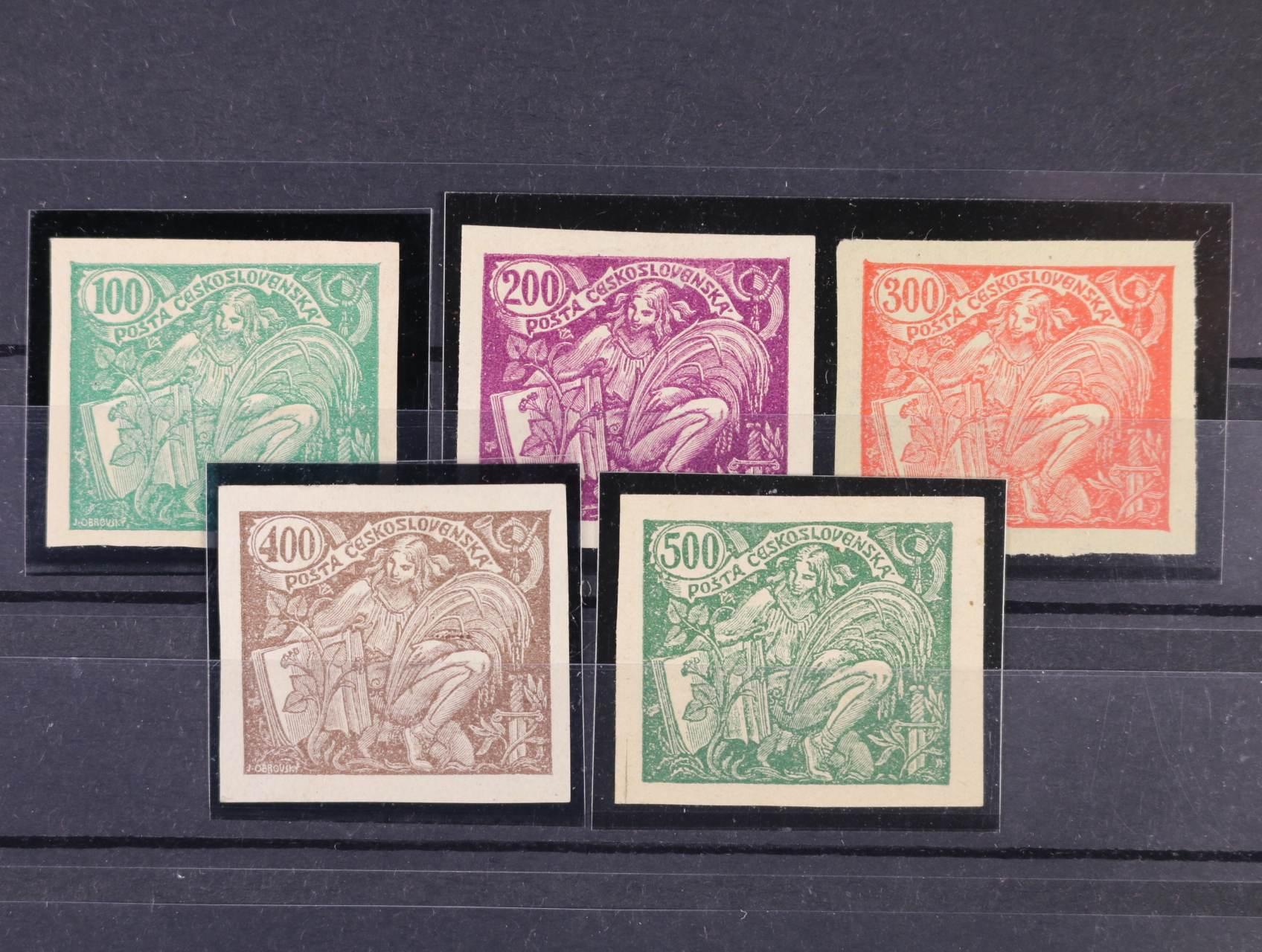 zn. č. 164 N - 168 N, kat. cena 1300 Kč