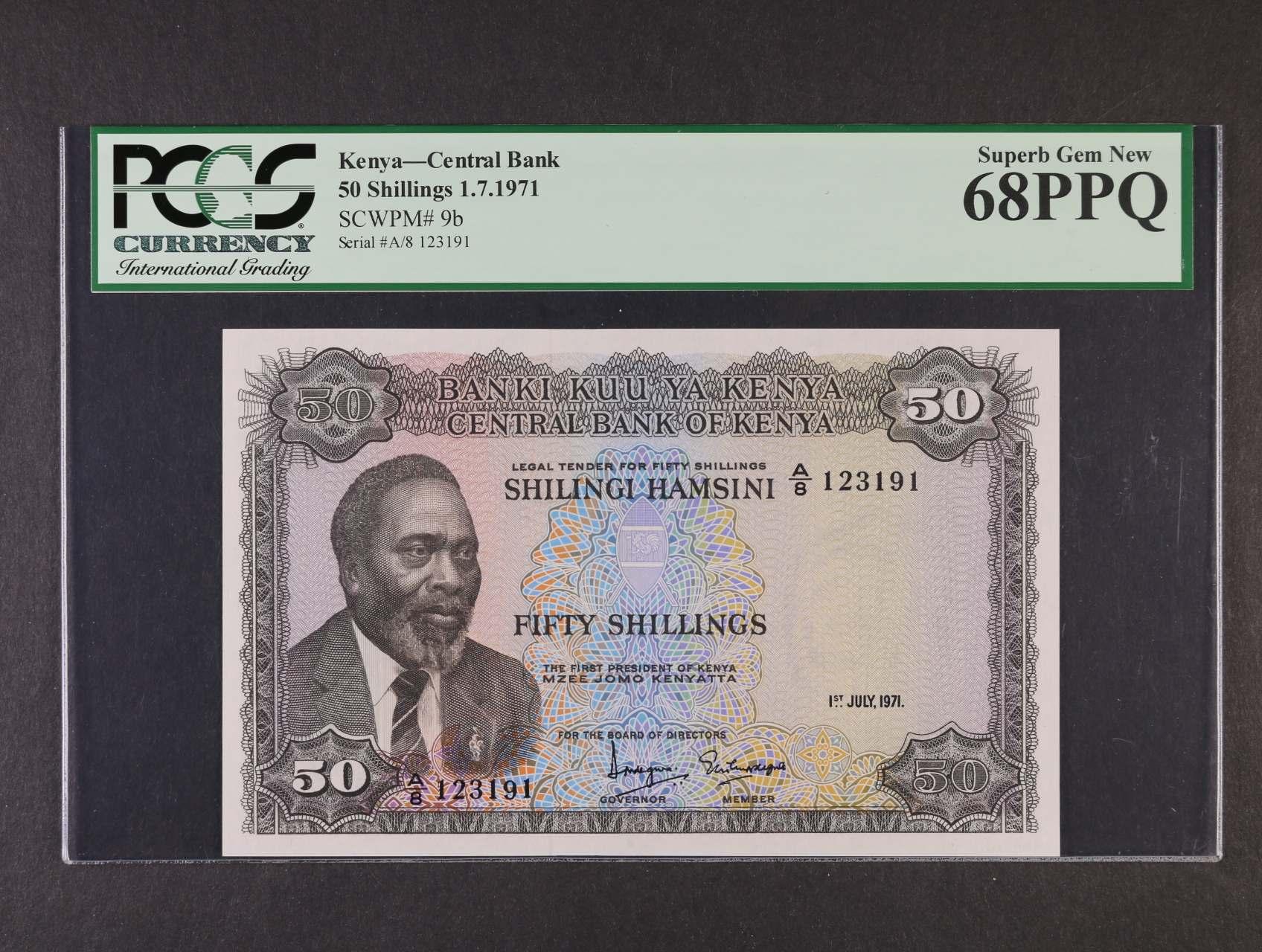 50 Schillings 1.7.1971, Pi. 9b, PCGS 68PPQ