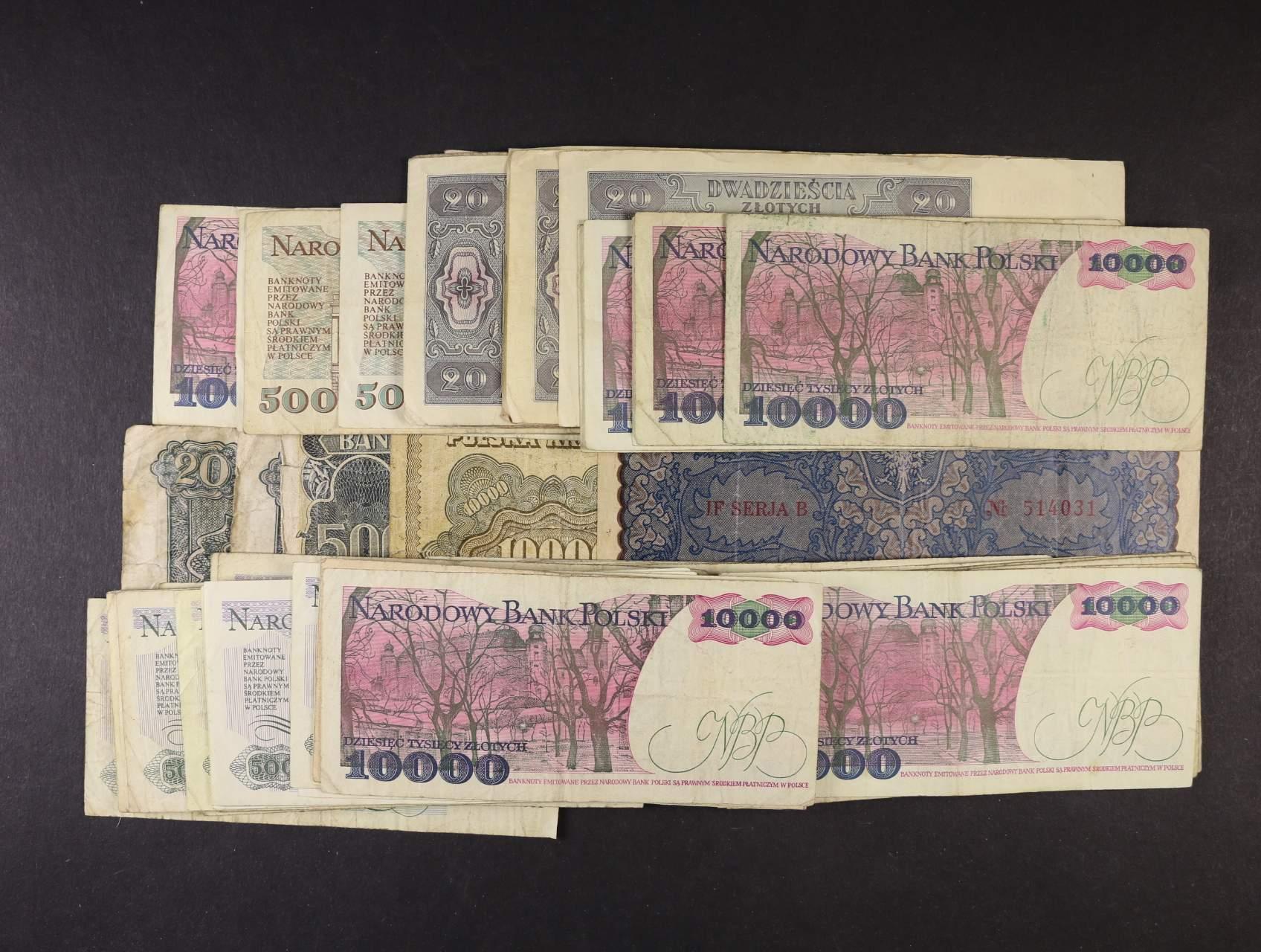 partie 1775 kusů bankovek Evropy, převážně Polsko, Maďarsko, Jugoslávie, Rumunsko, Itálie a další stav k prohlédnutí 2/2 až 3/3
