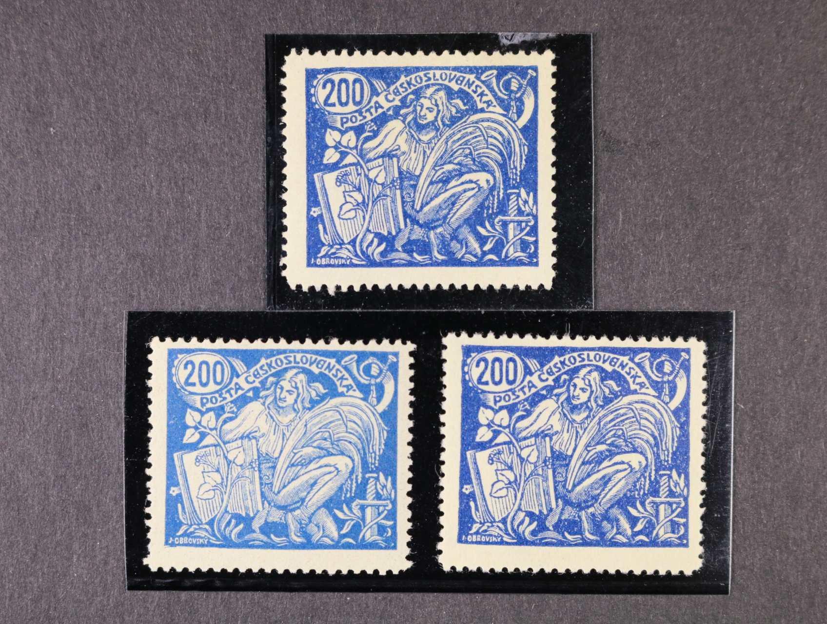zn. č. 174 A, typ II + typ III + typ III s tzv. bodákem, zk. Karásek, kat. cena 1150 Kč