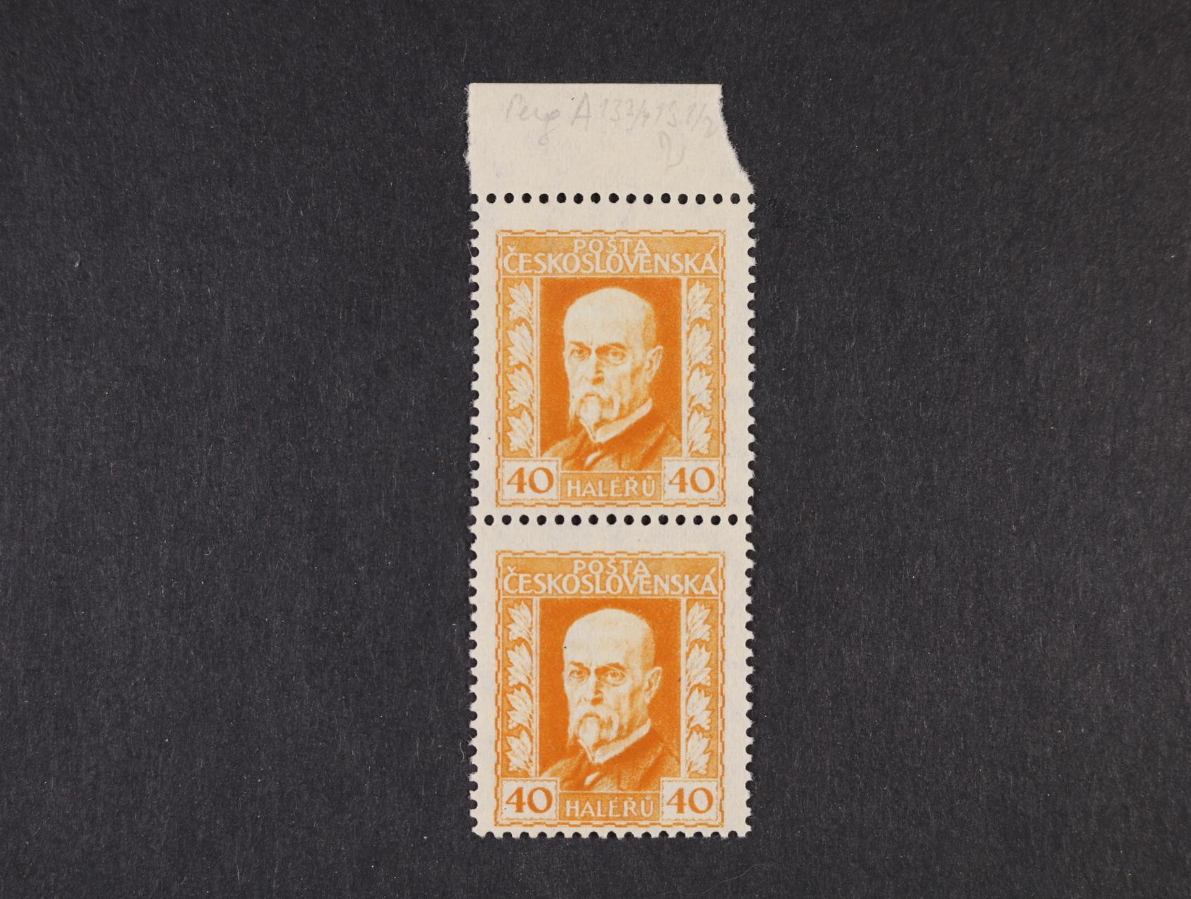 zn. č. 187 Ax pergamen. ve svislé dvoupásce s horním okrajem, papír, pr. 2, zk. Stupka