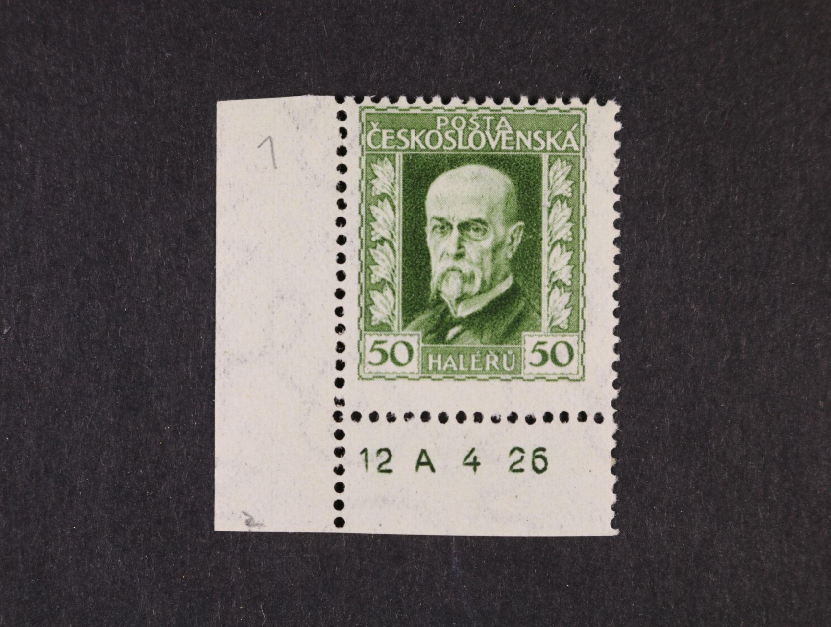 zn. č. 188 A, pr. 1 - levý spodní roh. kus s DZ 12 A 4 26