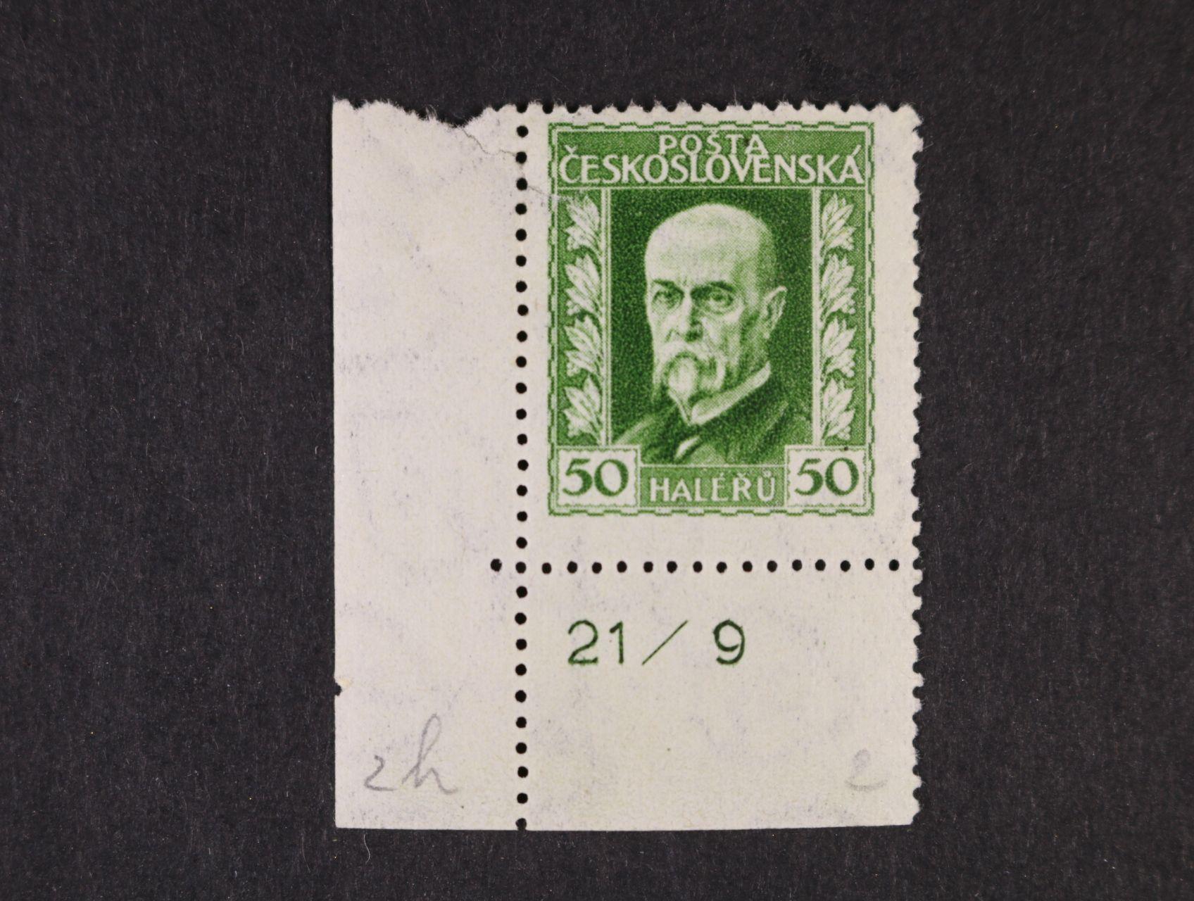 zn. č. 188 A, pr. 2 - levý spodní roh. kus s DZ 21/9