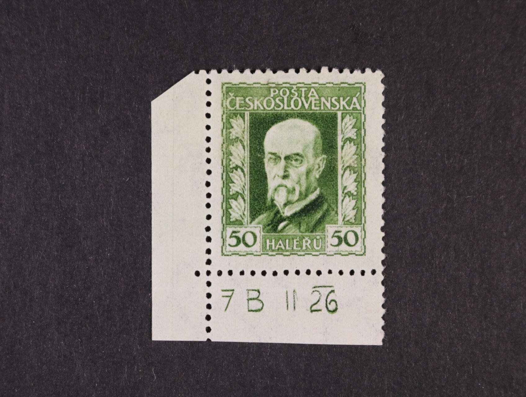 zn. č. 188 A, pr. 2 - levý spodní roh. kus s DZ 7 B  II 26