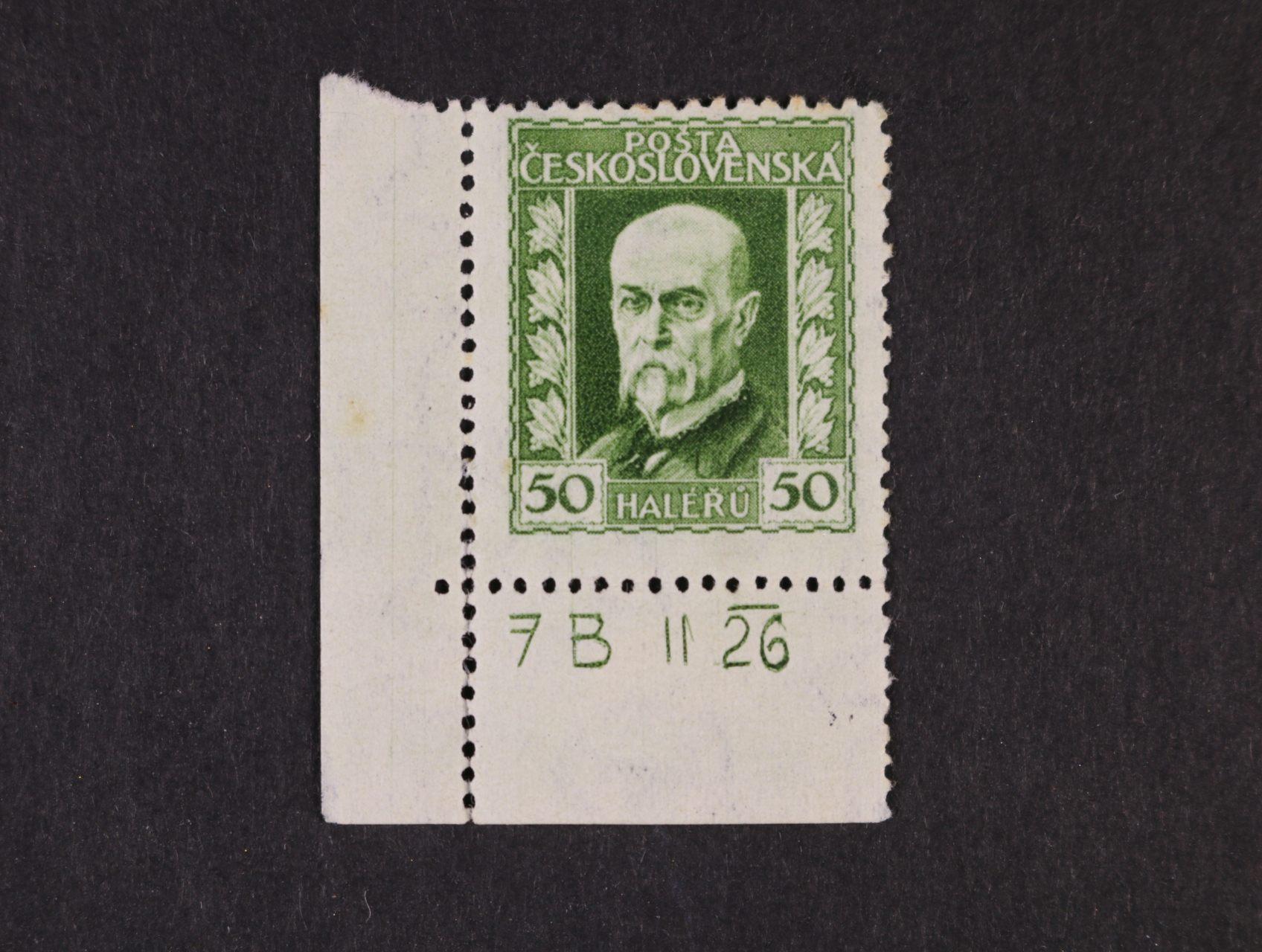zn. č. 188 A, pr. 3 - levý spodní roh. kus s DZ 7 B  II 26