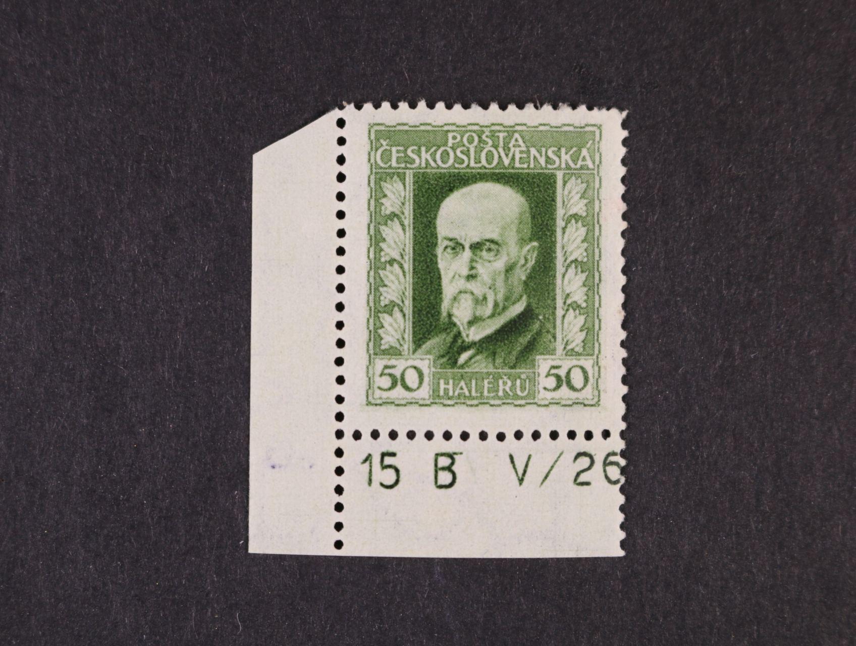 zn. č. 188 A, pr. 3 - levý spodní roh. kus s DZ 15 B  V/26