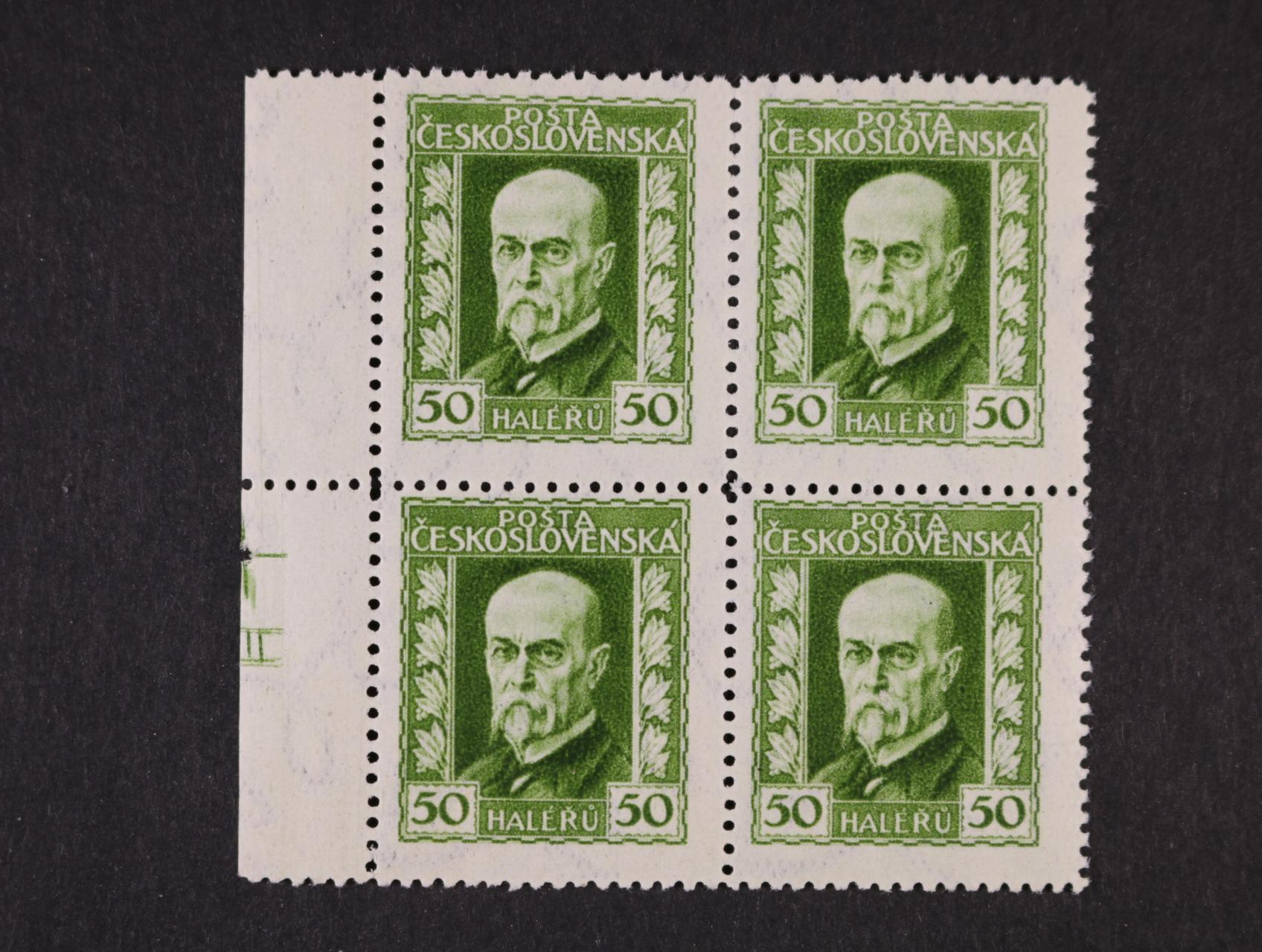zn. č. 188 B, pr. 4, ve čtyřbloku s levým okrajem, na okraji spodní zn. nápichový bod, rozměřovací křížek a DZ II