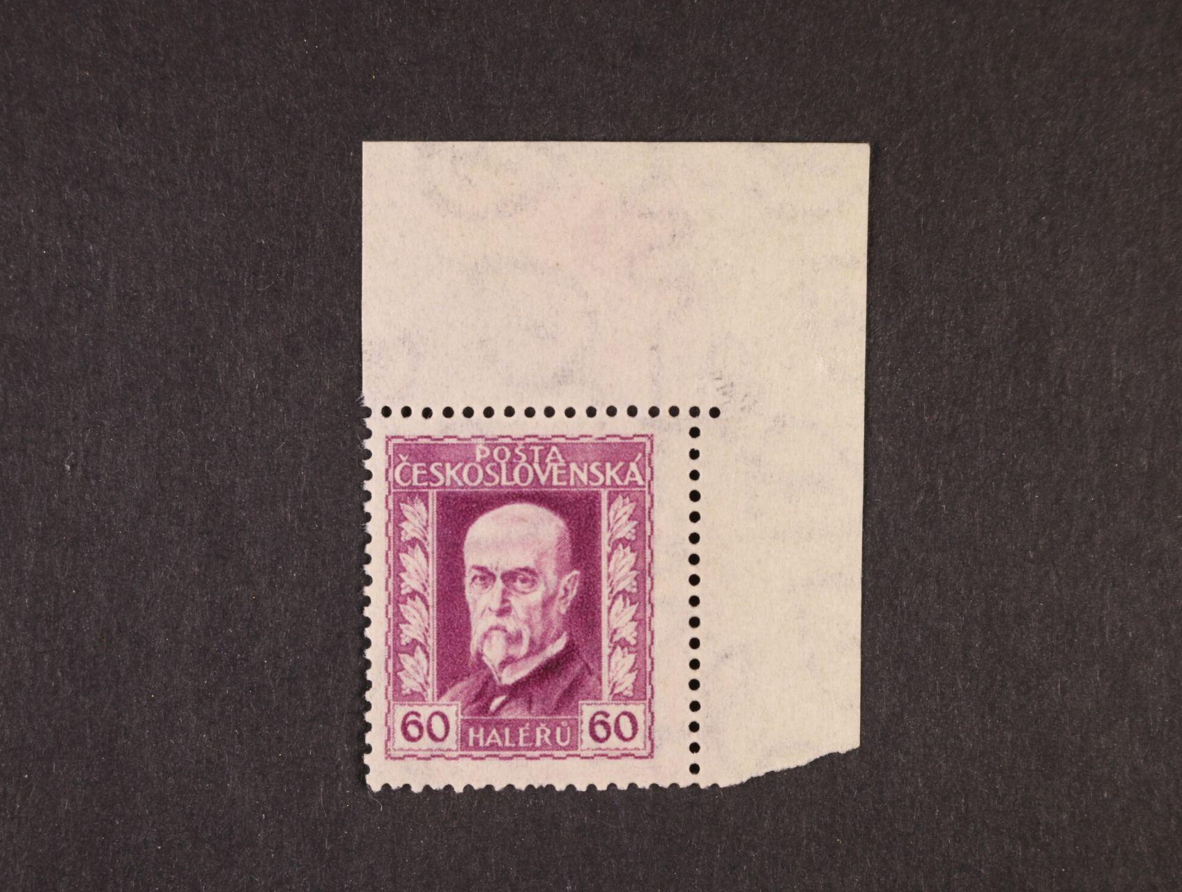 zn. č. 189 Ax pergamen papír - pravý horní roh. kus, zk. Stupka, kat. cena min. 2000 Kč