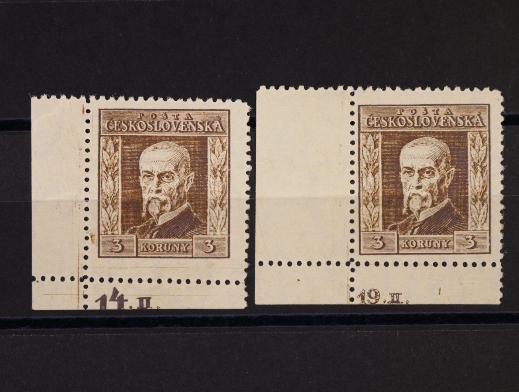 zn. č. 191 B, pr. 5, dtto pr. 7 - levé spodní roh. kusy s DZ 14.II., resp. 19. II.