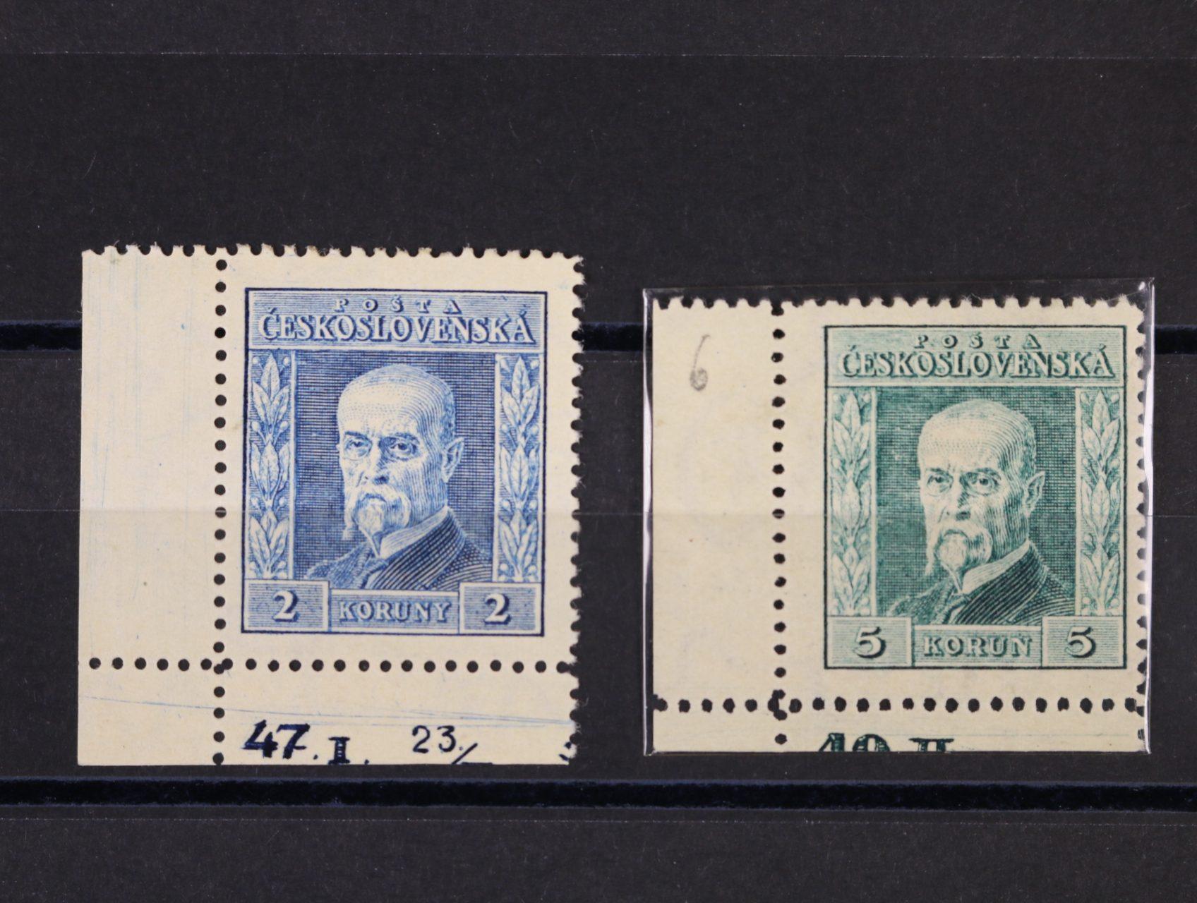 zn. č. 191B, pr. 8 + 193, pr. 6 - levé spodní roh. kusy s DZ 47.I.  23/, resp. 40.II.