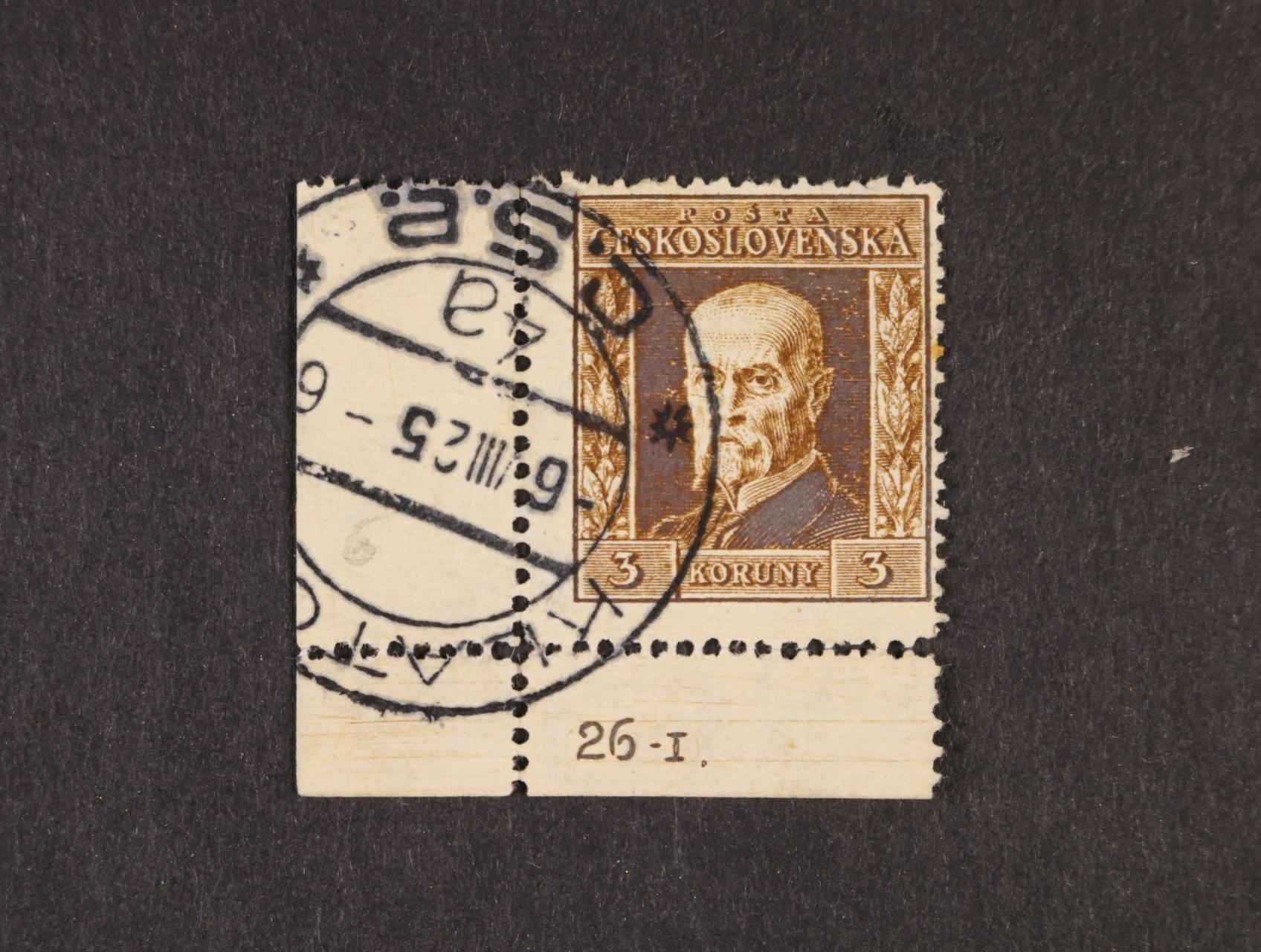 zn. č. 196, pr. 6 - levý spodní roh. kus s DZ 26.I.