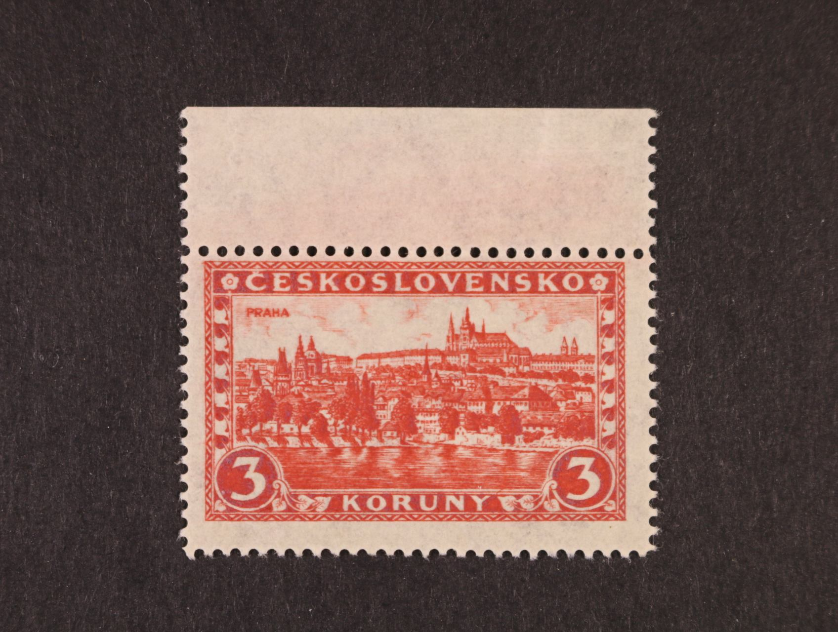 zn. č. 226x pergamen. papír s horním okrajem, pr. 8, zk. Kraus