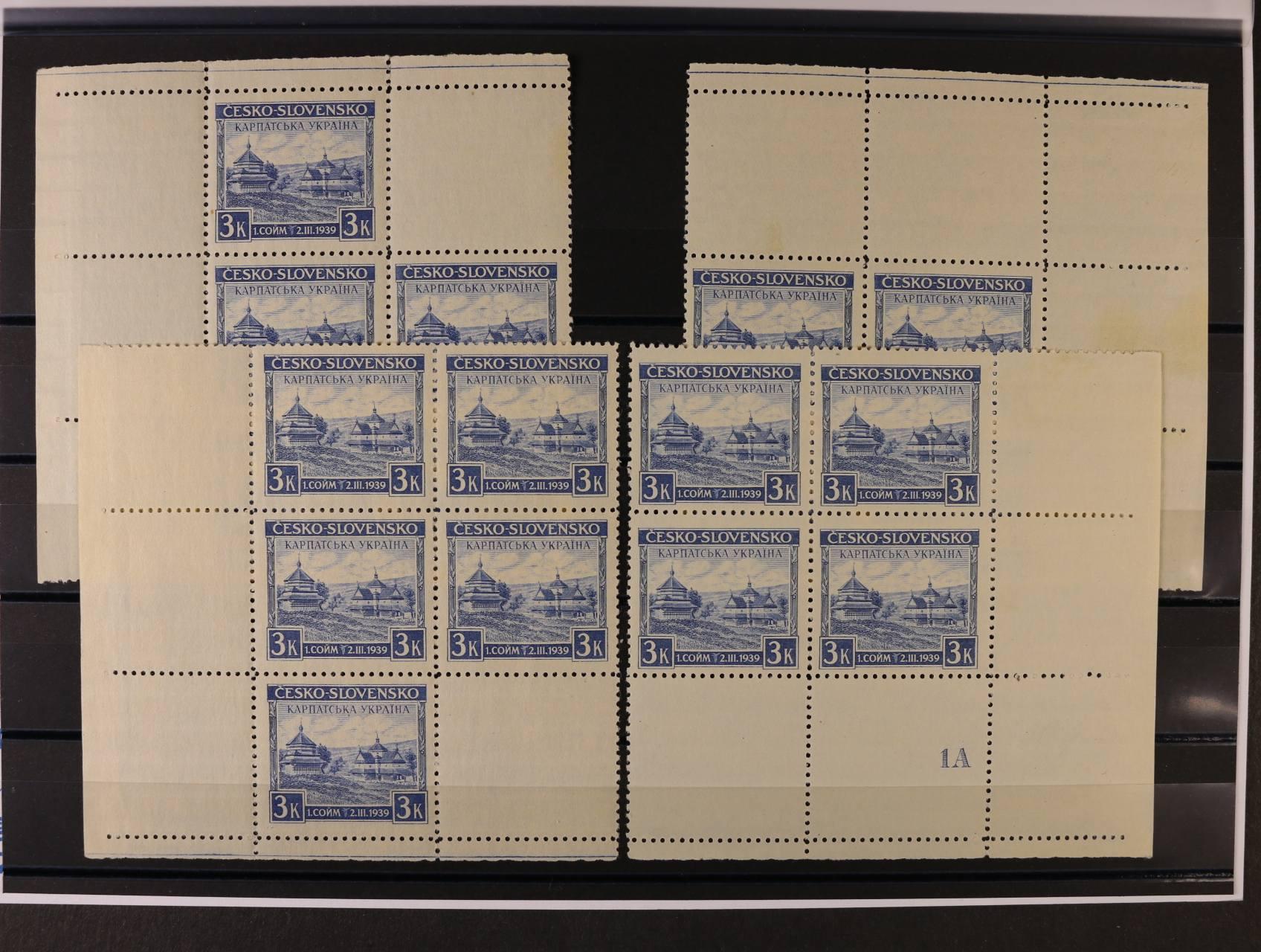 zn. č. 351 v miniatuře (v šestiblocích), DZ 1 A, kat. cena cca 1600 Kč