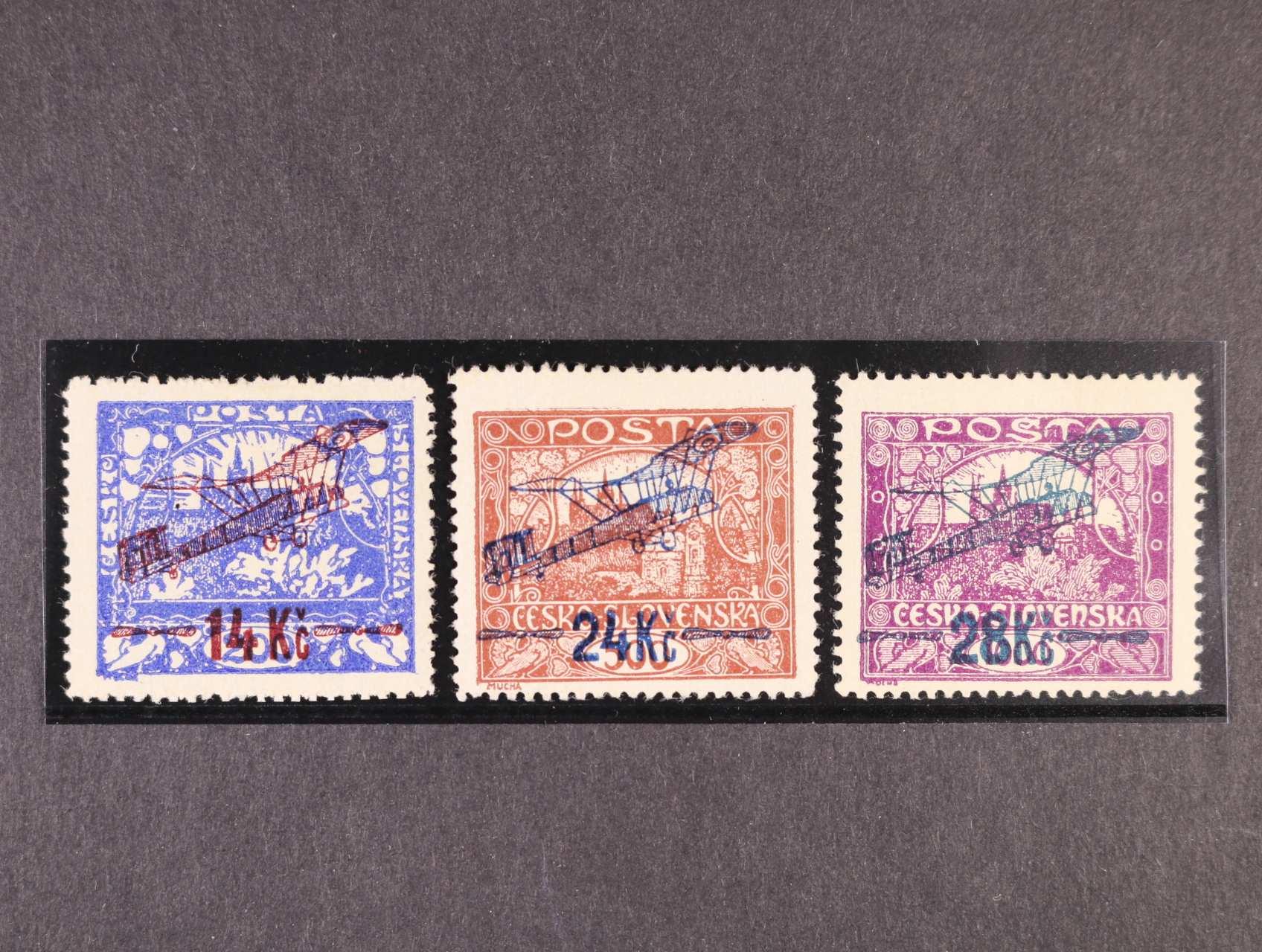 zn. L č. 1 A tmavě ultramarínová, L 2 A, typ II, L 3 B, zk. Gilbert, Karásek, kat. cena 4000 Kč