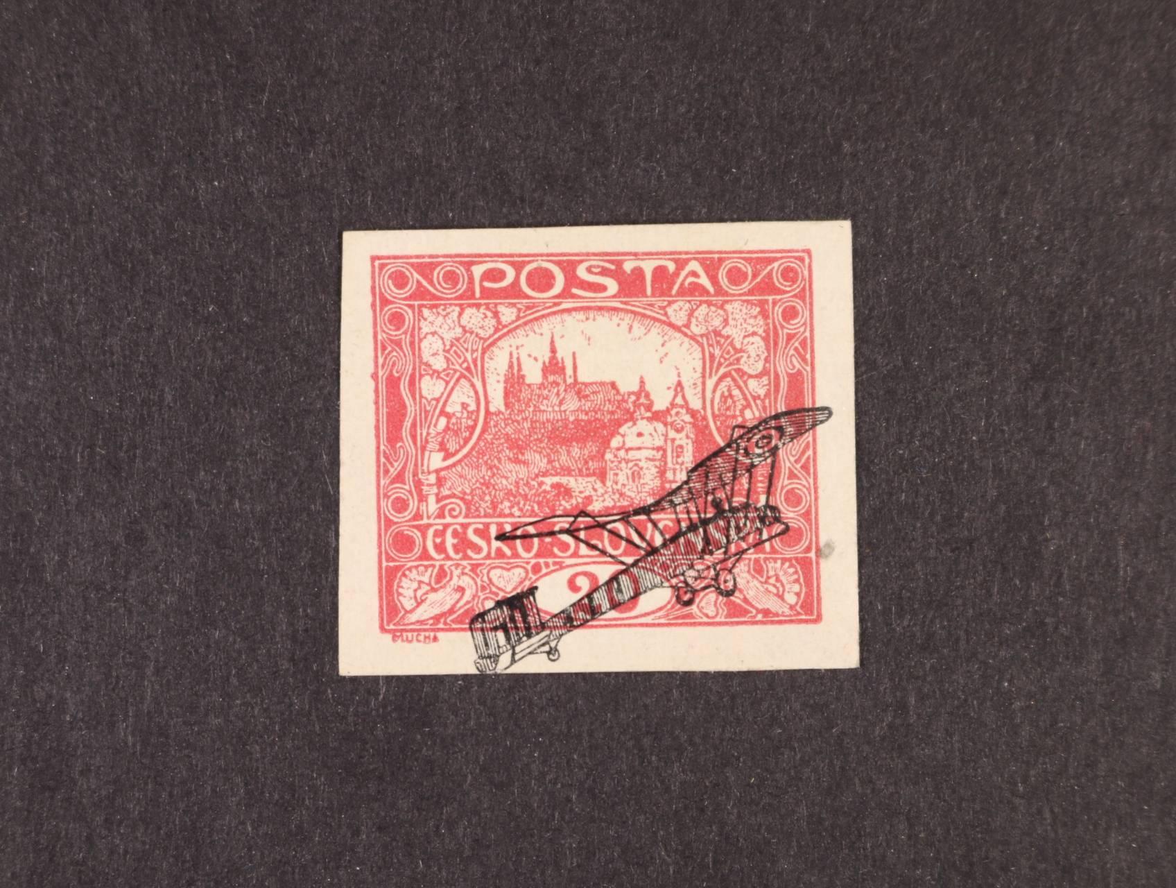 ZT 28Kč / 20h červená s černým přetiskem, vzácné, zajímavé, kat. cena 3500 Kč