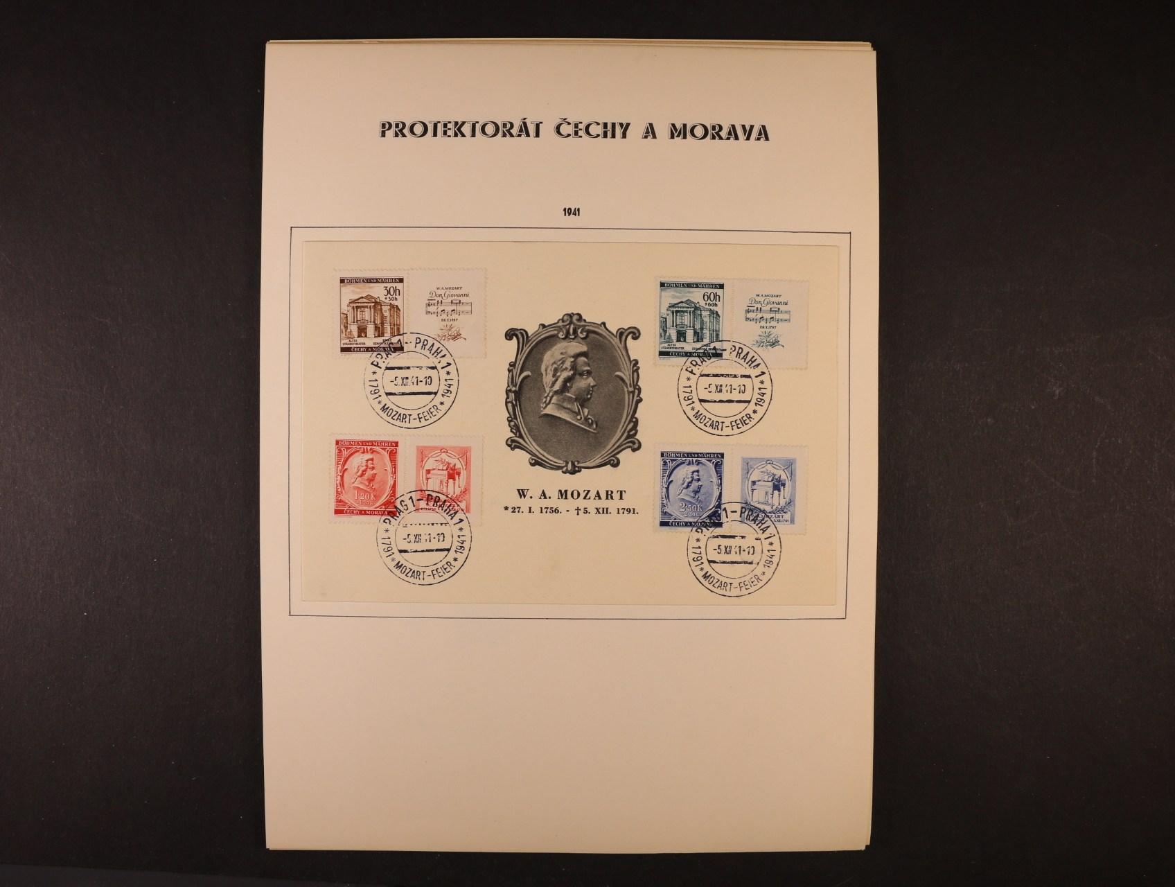 sestava 15 ks pam. listů a obálek s příl. raz., velmi zajímavé, k prohlédnutí