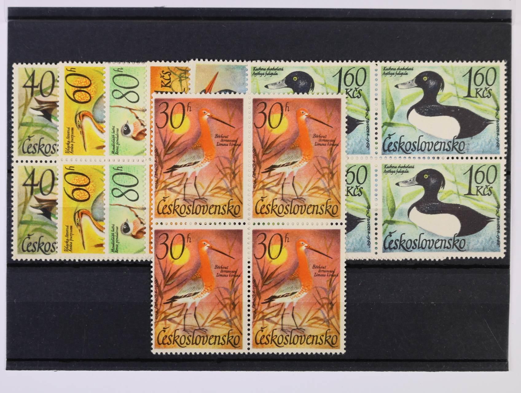 zn. č. 1587 - 93 ve čtyřblocích, zn. č. 1587 ST, kat. cena cca 660 Kč
