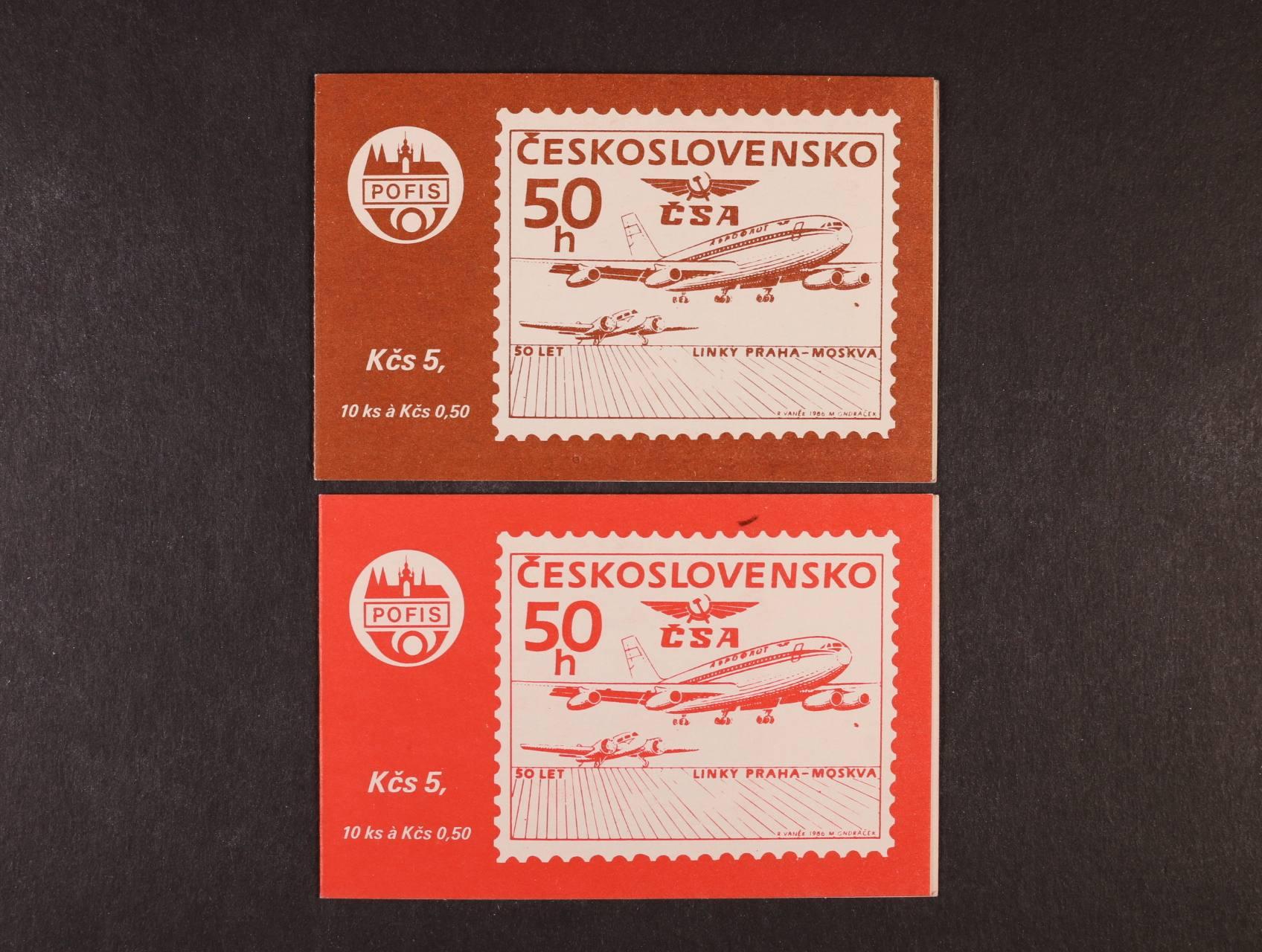 ZS (známkový sešitek) 53a hnědý + ZS 53b červený
