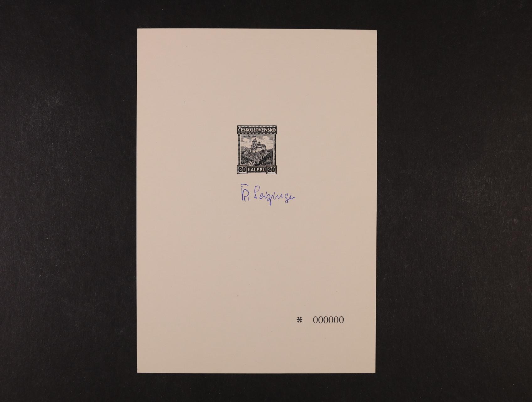 PT 9b anulát s podpisem autora zn. R. Seisinger