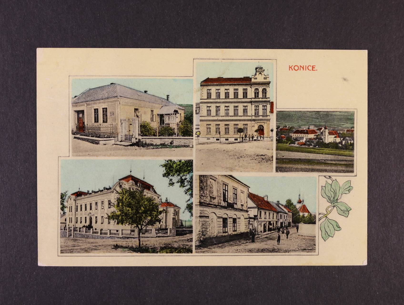 Konice - bar. okénková koláž, použitá 1906, dobrá kvalita