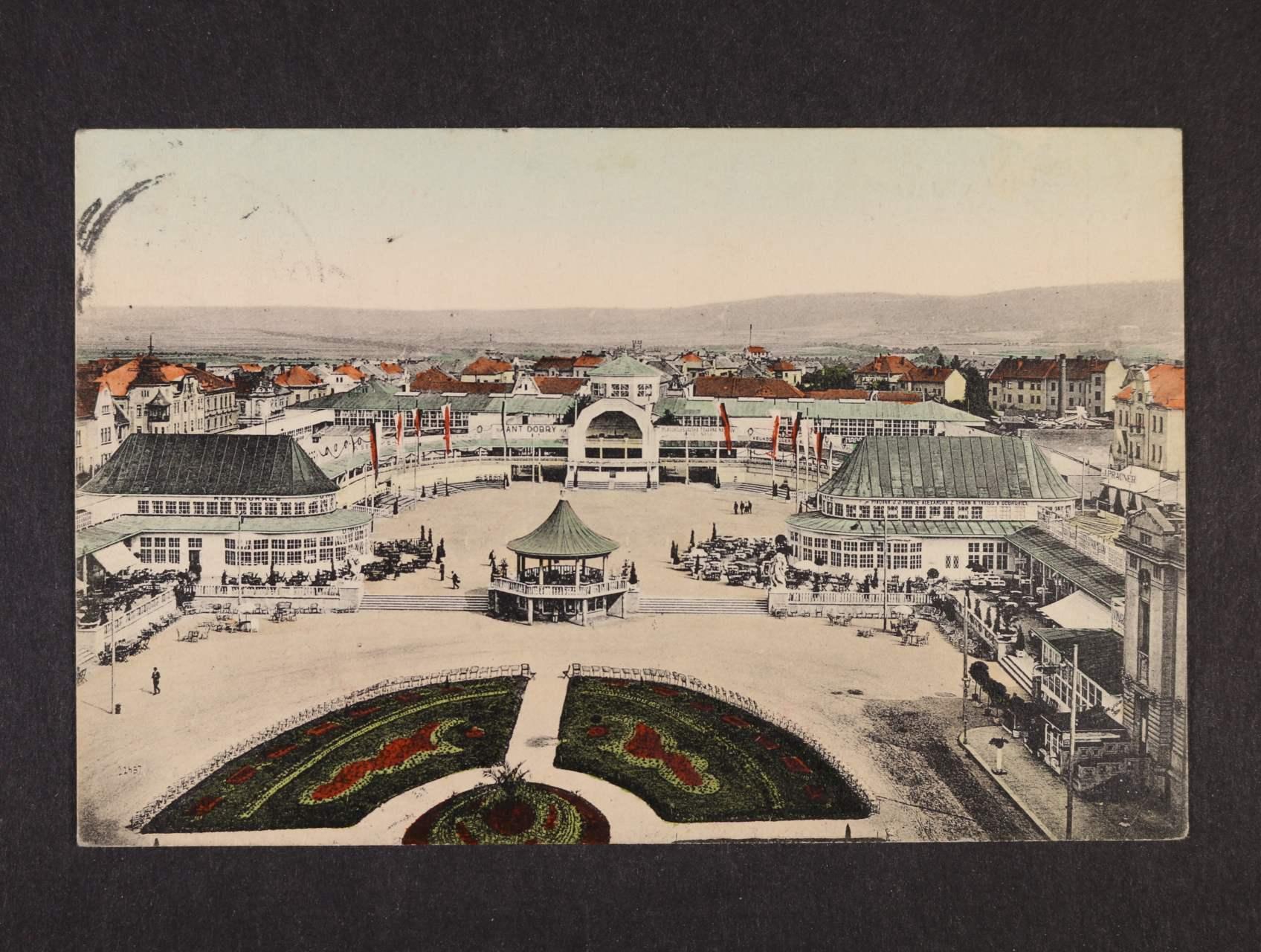 Mladá Boleslav - Severočeská výstava, bar. pohlednice použitá 1926, odlepená zn.