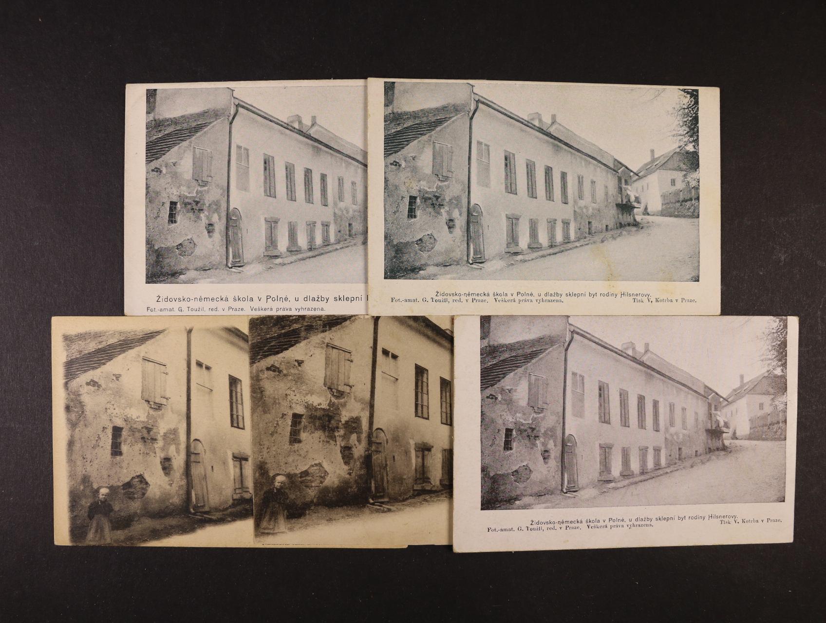 sbírka 159 ks různých bar. i jednobar. pohlednic Polná - Hilsneriáda, použité i nepoužité, různé varianty, uloženo ve dvou zásobnících na pohlednice, zajímavé, k prohlédnutí