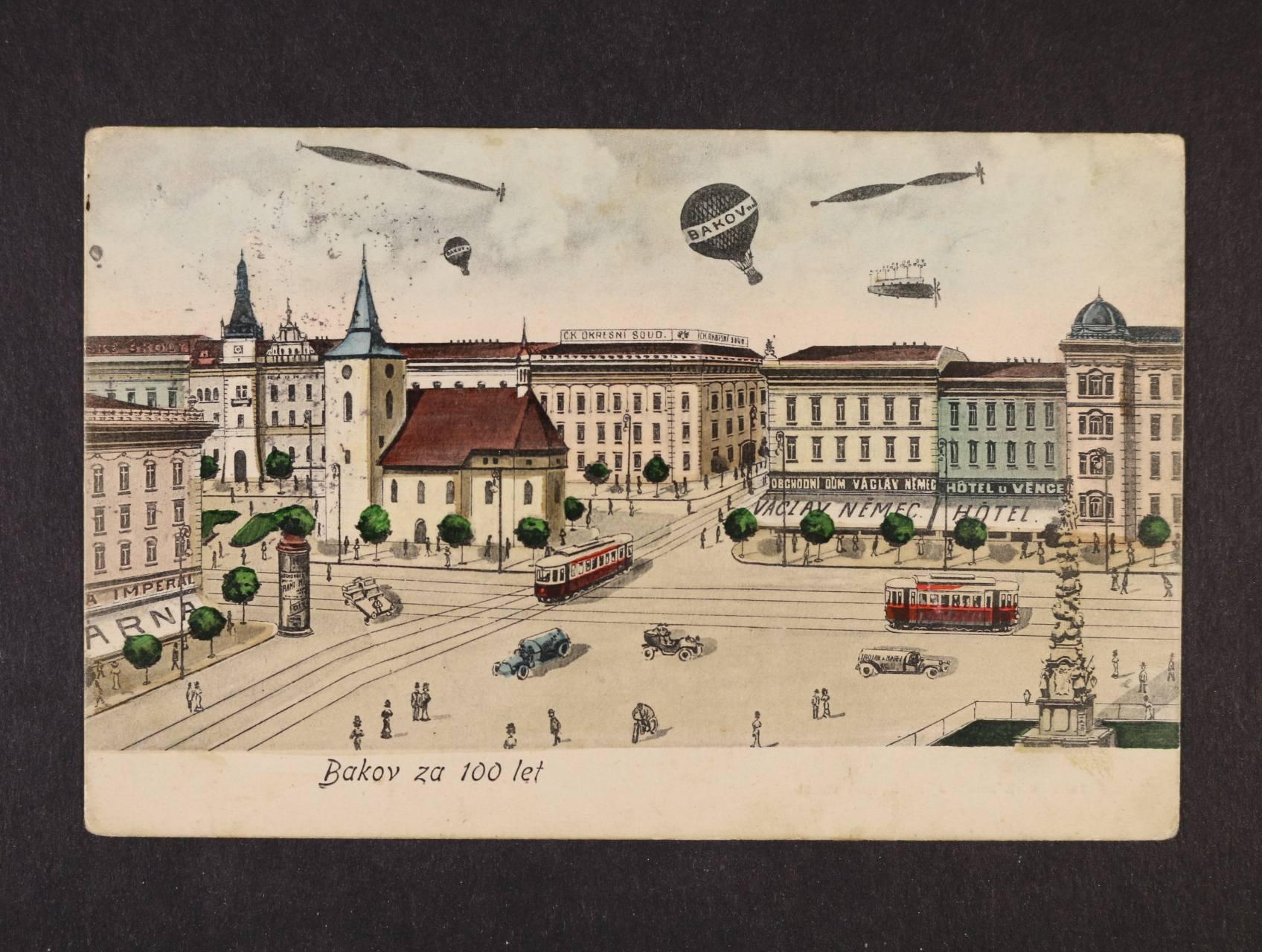 Bakov - bar. litograf. koláž, použitá 1908