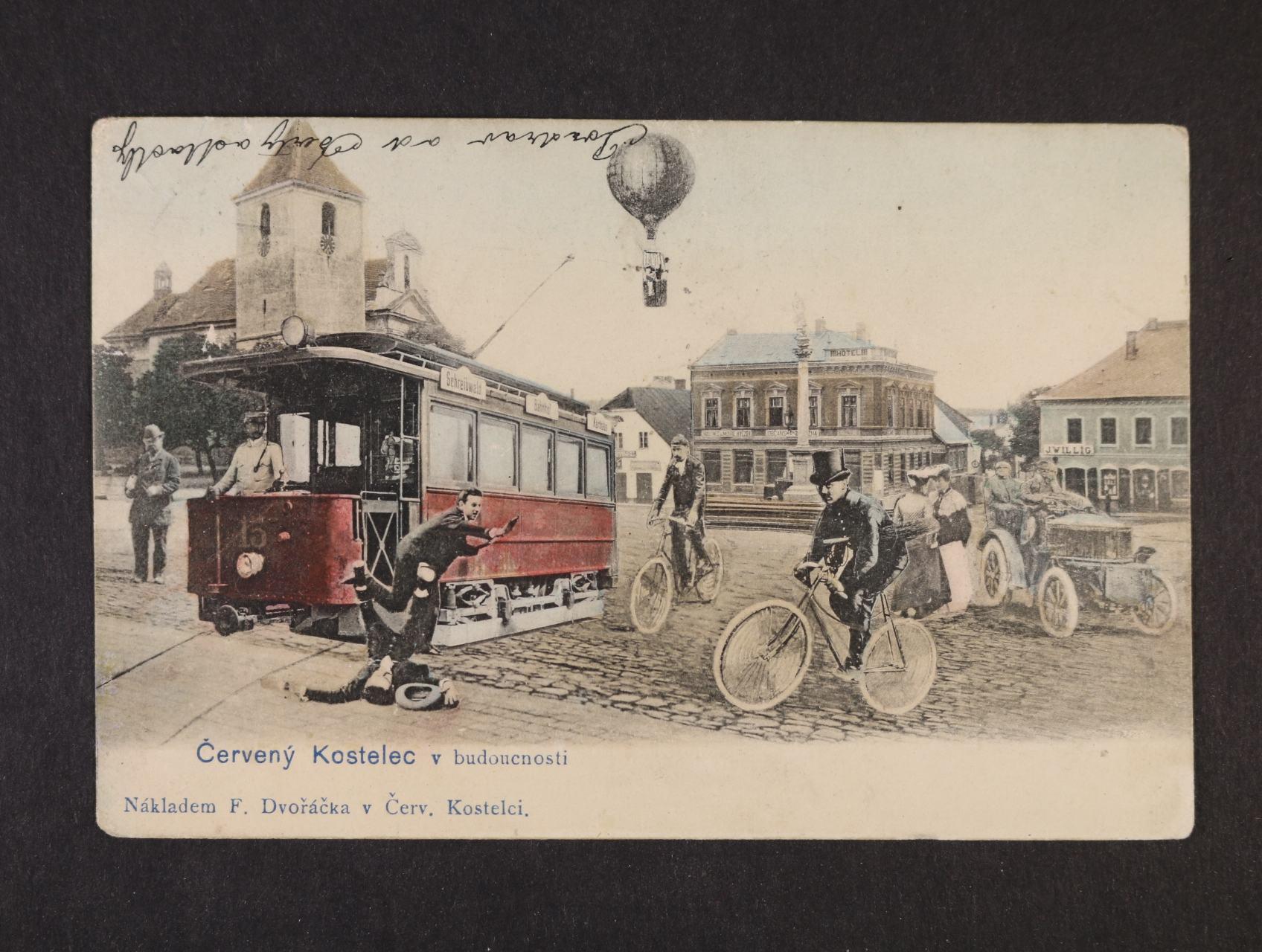 Červený Kostelec - bar. koláž použitá 1905, dobrá kvalita