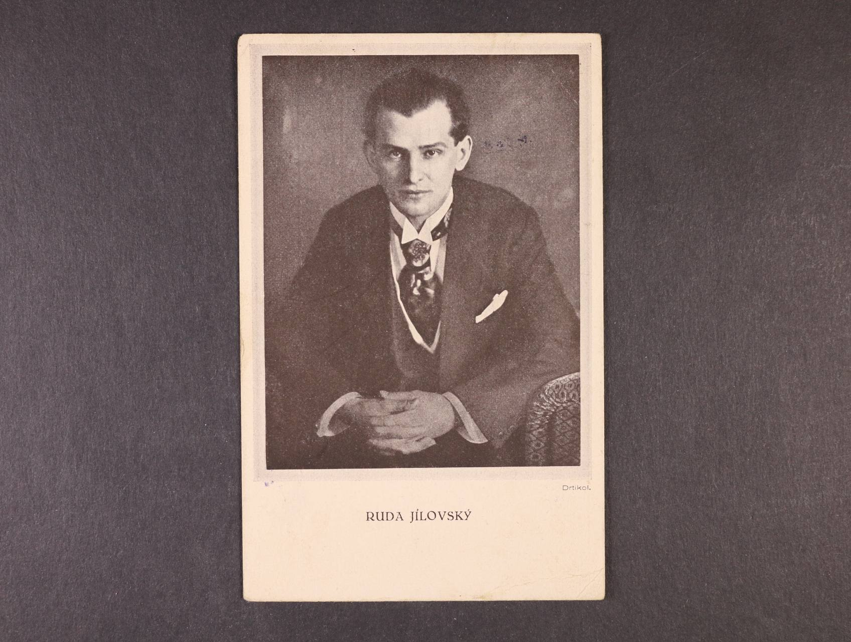 Osobnosti - jednobar. fotopohlednice od význačného čs. fotografa Drtikola, použitá 3.12.1918, zajímavé